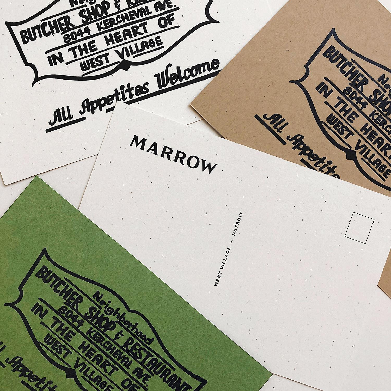 Marrow  Brand Identity, Custom Typography