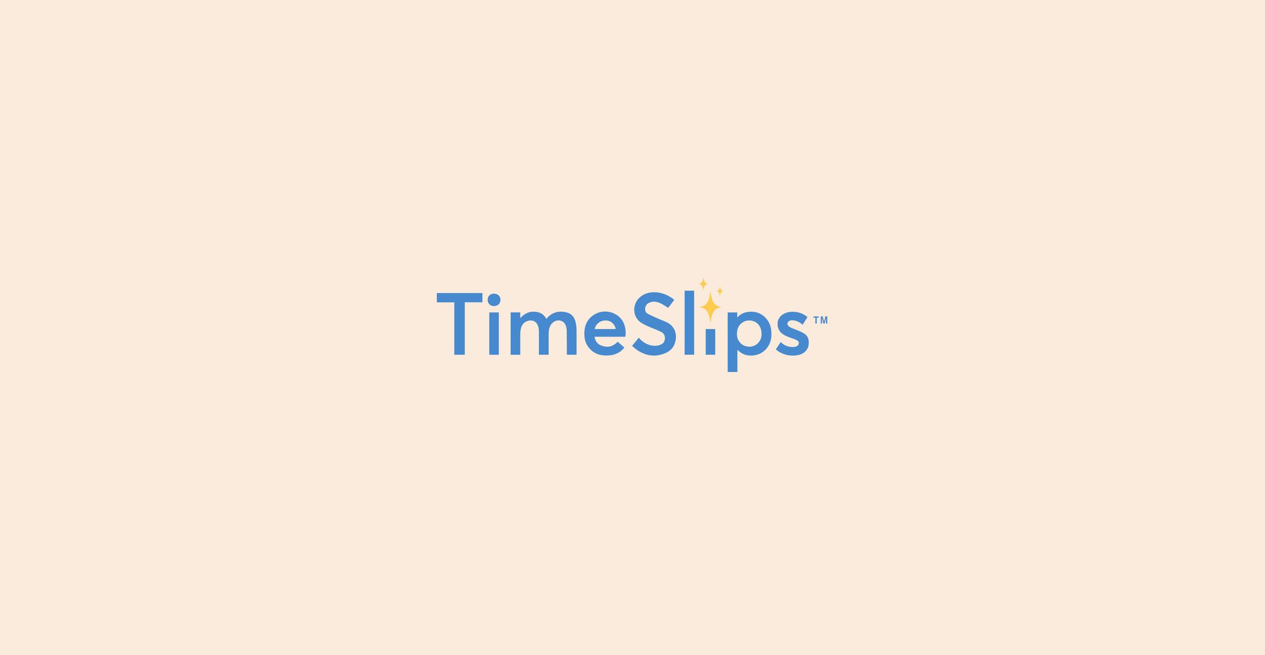 TimeSlips  Brand Identity, Web Design, Apparel