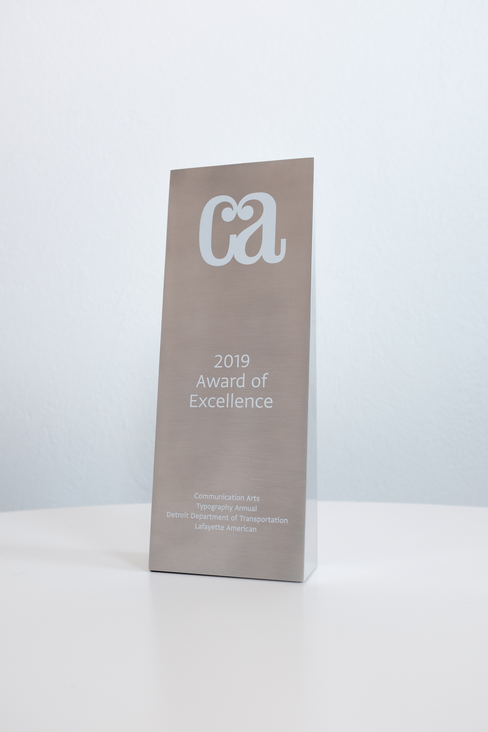 Communication Arts Award of Excellence for DDOT redesign