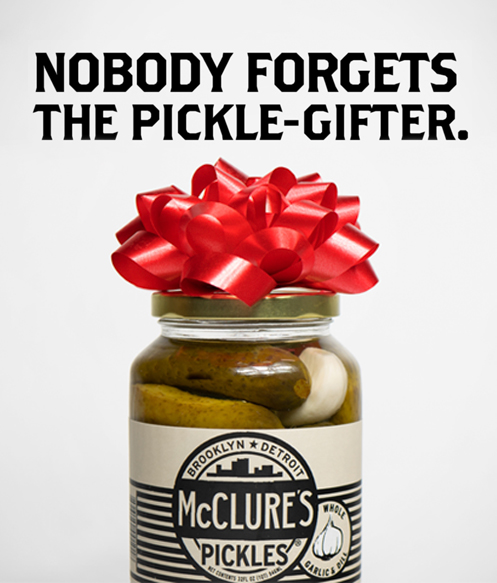 McClure's Pickles  Photography and design for special holiday content.