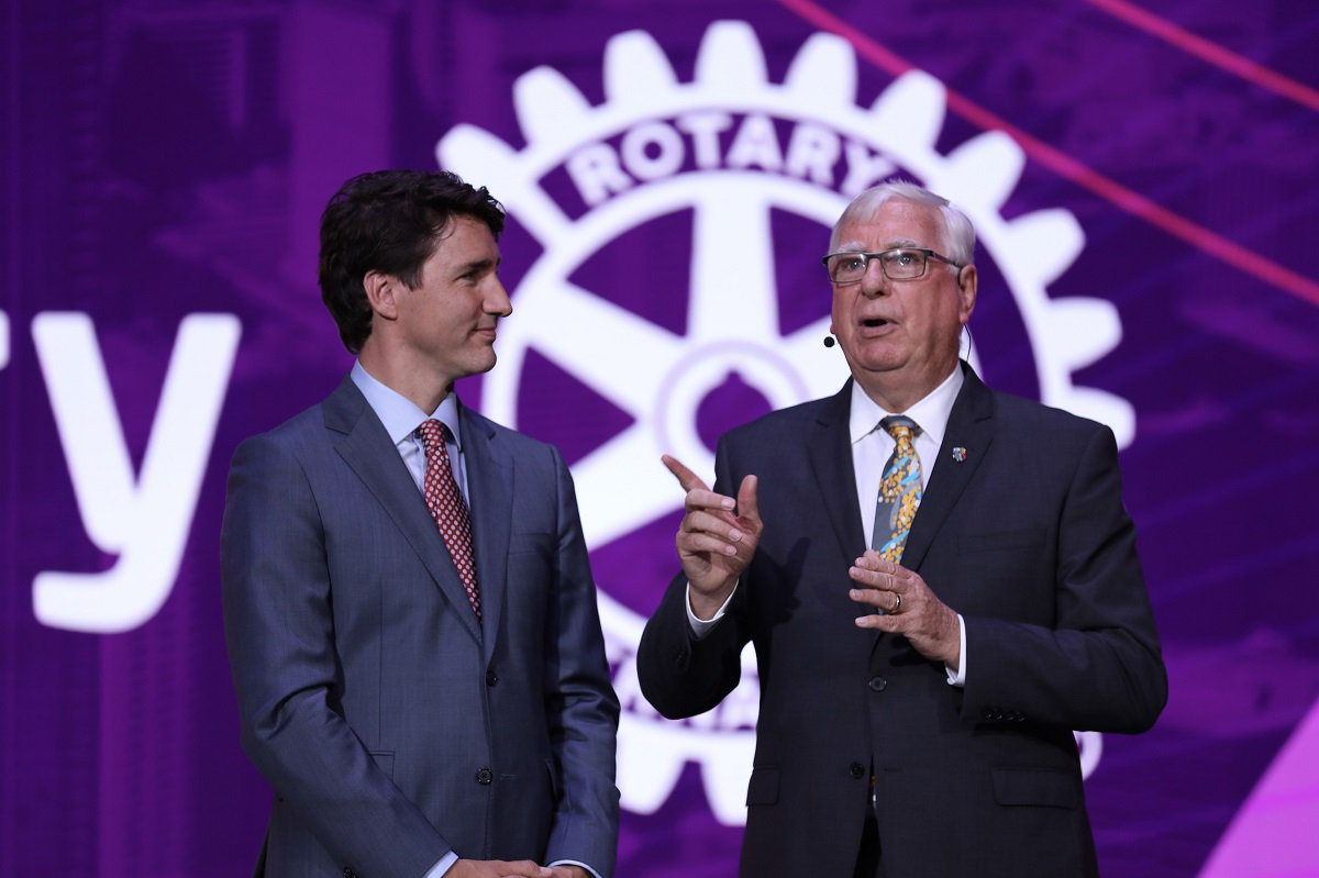 Canada's Prime Minister, Justin Trudeau receiving honors in his efforts to eradicate polio.