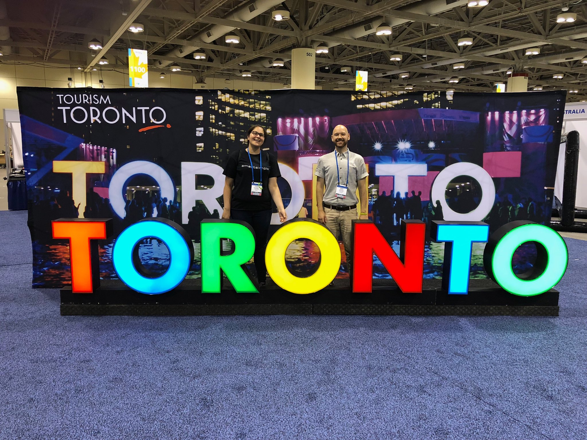 SmartSimple's Marketing Coordinator, Cinzia Dominutti and Client Acquisition Marketing Specialist, Geoff Cook at Rotary International's 2018 Conference in Toronto.