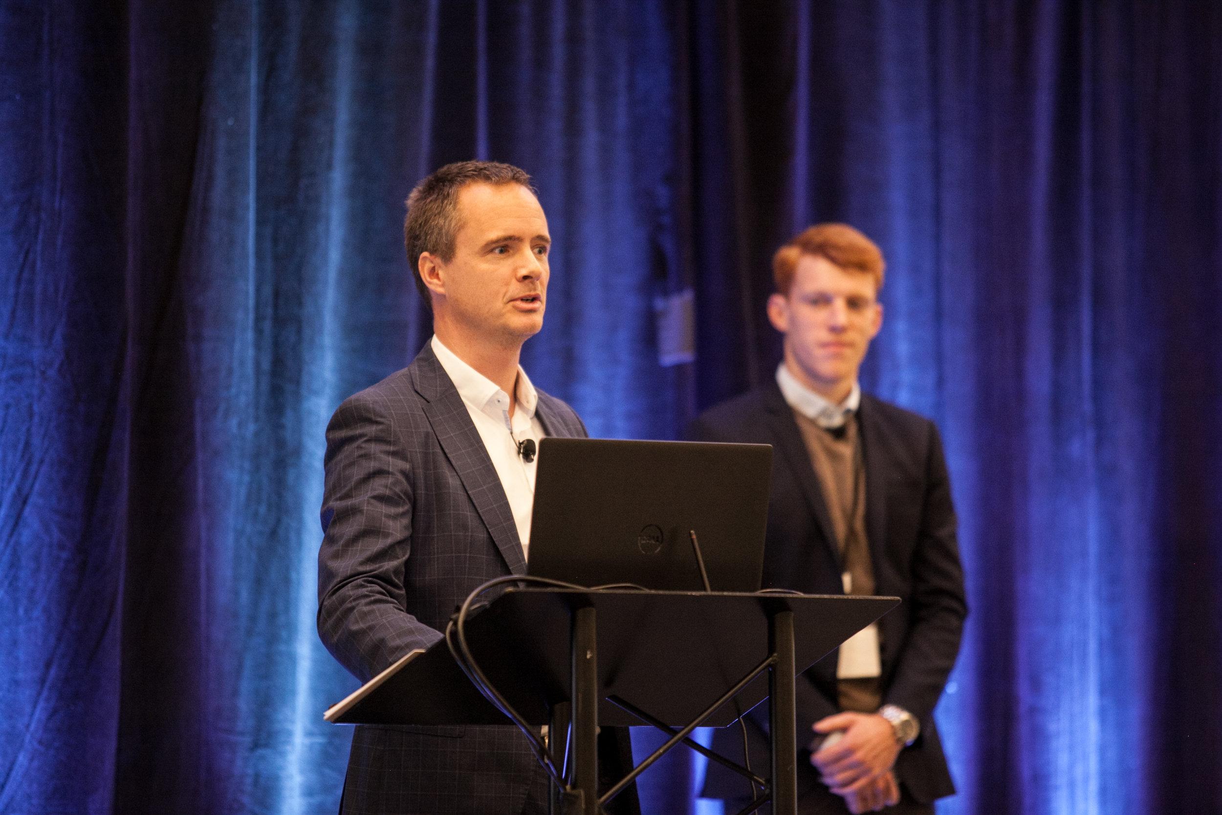 Kristian Puggaard from DAMVAD presenting on Machine Learning