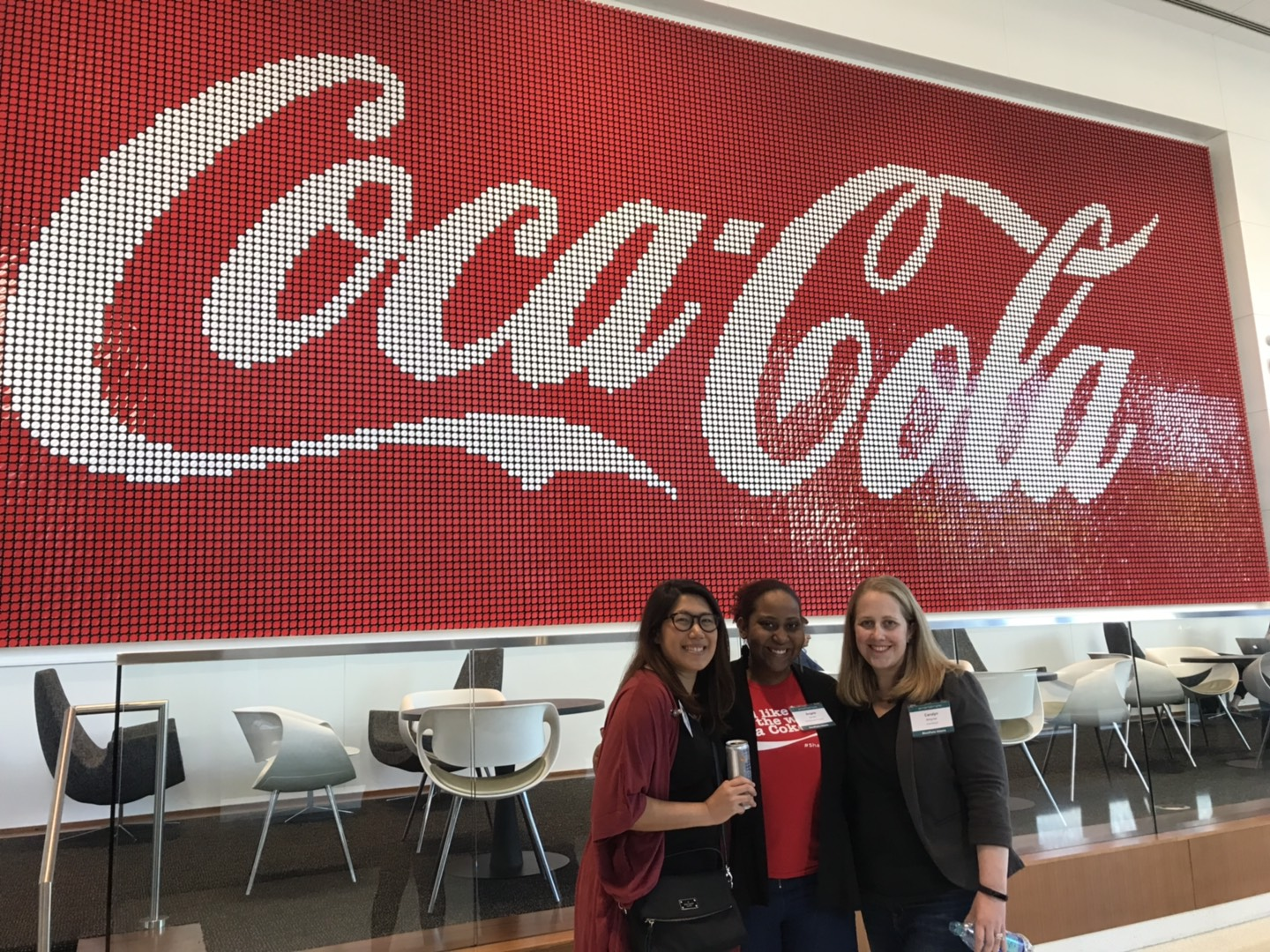 L-R Claudine Ting, Marketing Specialist for Client Sucess at SmartSimple, Angela Randle, Grant Administrator for the Coca-Cola Company Carolyn Bringman, Regional Manager for SmartSimple
