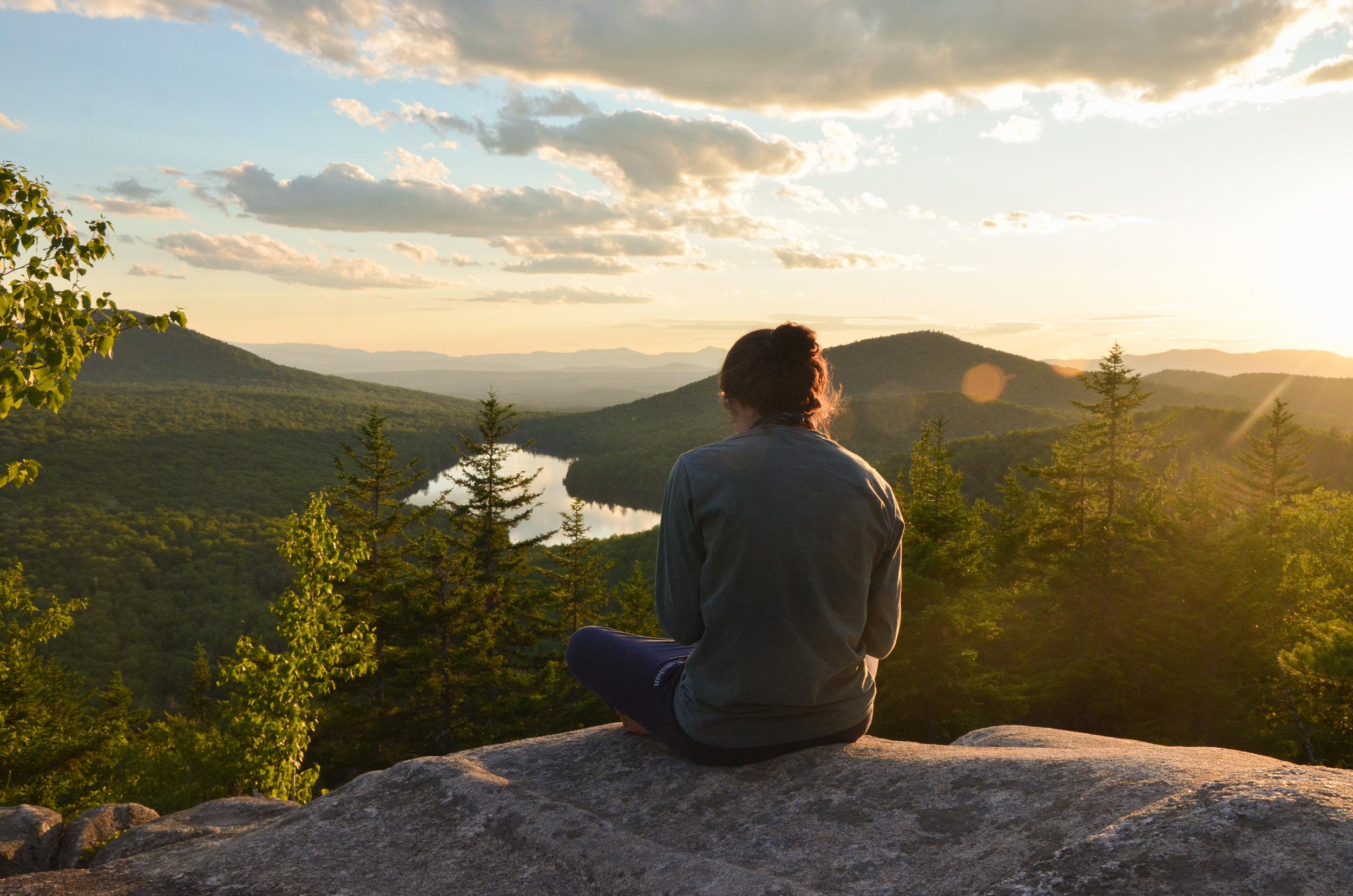 Cayley on summit in Vermont