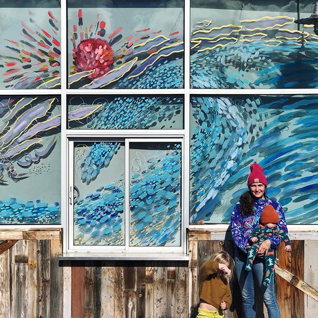 """Shout out to my talented wife @jessicajholmes TEXT """"seven brothers mural"""" to 506-300-0093 to vote for her mural. #riverwoodsfi"""