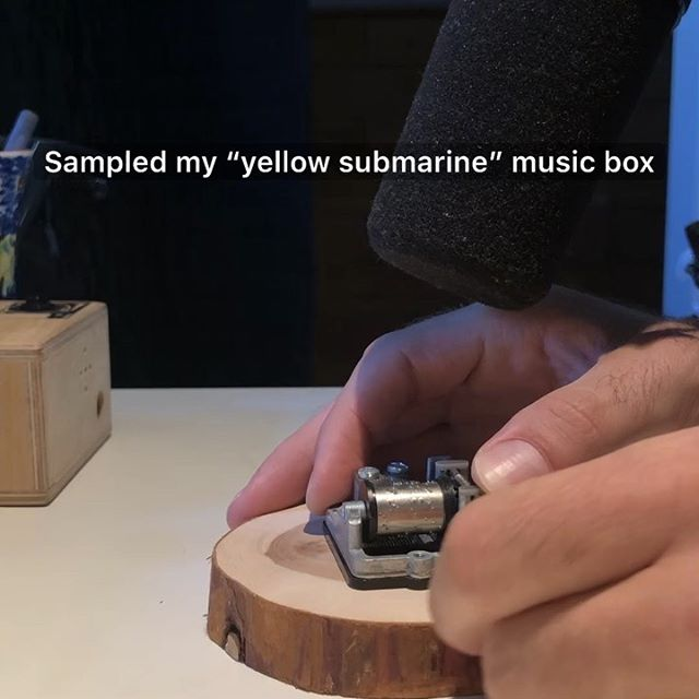 Turned my yellow submarine music box into a relaxed beat. 😴 #musicbox #musicproducer #musicproduction #musicproductiontips #lofihiphop #beatmaking #cymaticsfm @slowavestudios
