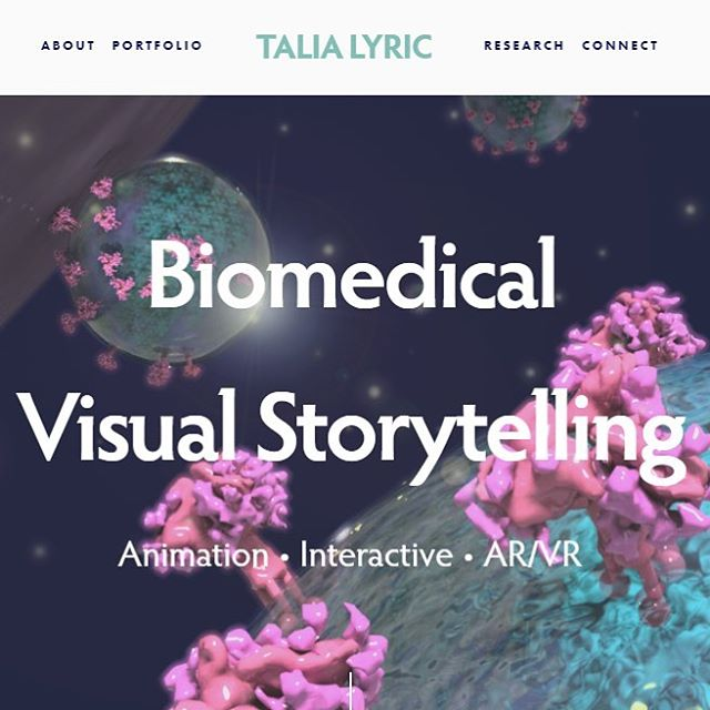 Check out my website! • • www.talialyric.com 👈 link in bio! ☝️ #webdesign #biomedicalvisualization #bvis #medicalillustration #3dmodeling #animation #vr #virtualreality #ar #augmentedreality #science