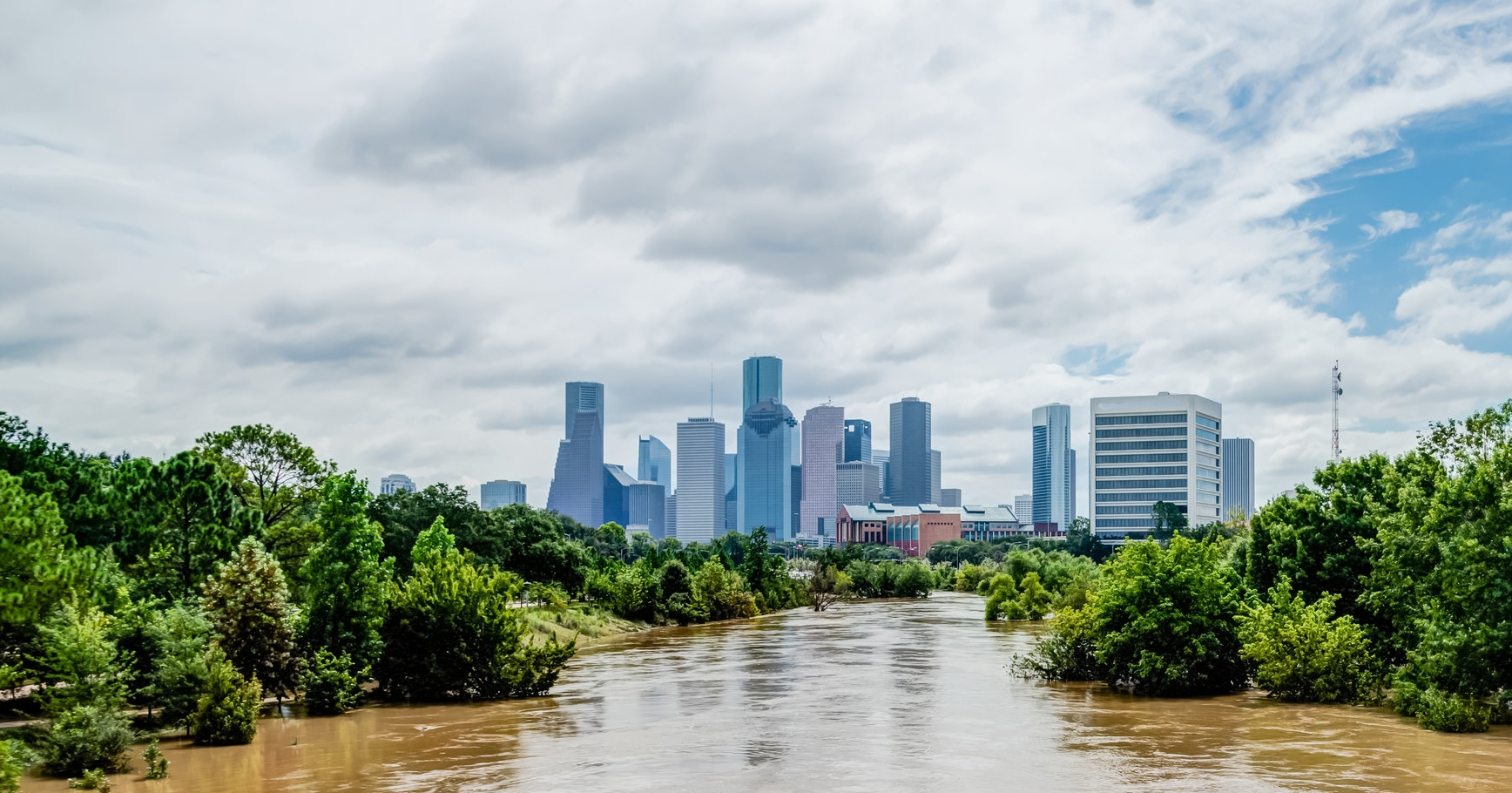 Houston, Texas, following Hurricane Harvey.
