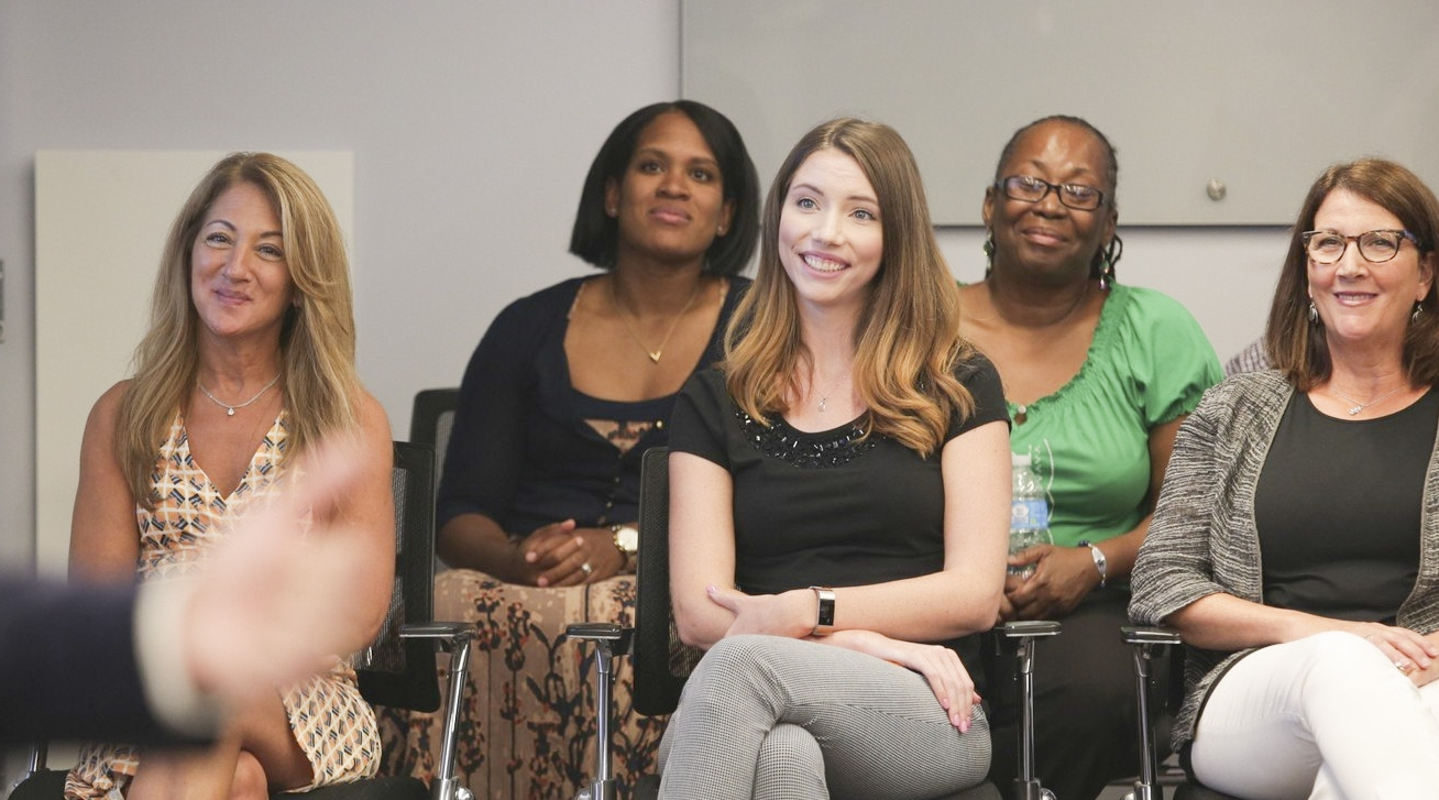 PURE employees from left:Victoria Koch, Vanessa Perkins,   Caitlin Wilson, Audi Mincey and Joan Smith.