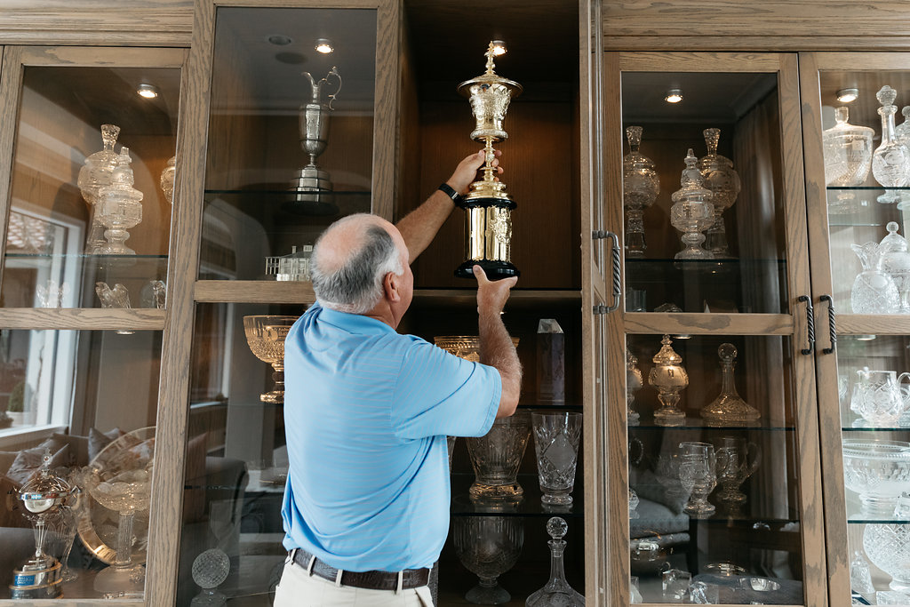 PURE member and golf legend Mark O'Meara in his home in Houston, Texas.