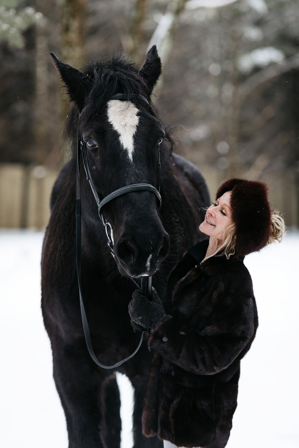 PURE member Darcel McDonald and her horse outside of her home in Wausau, Wisconsin.