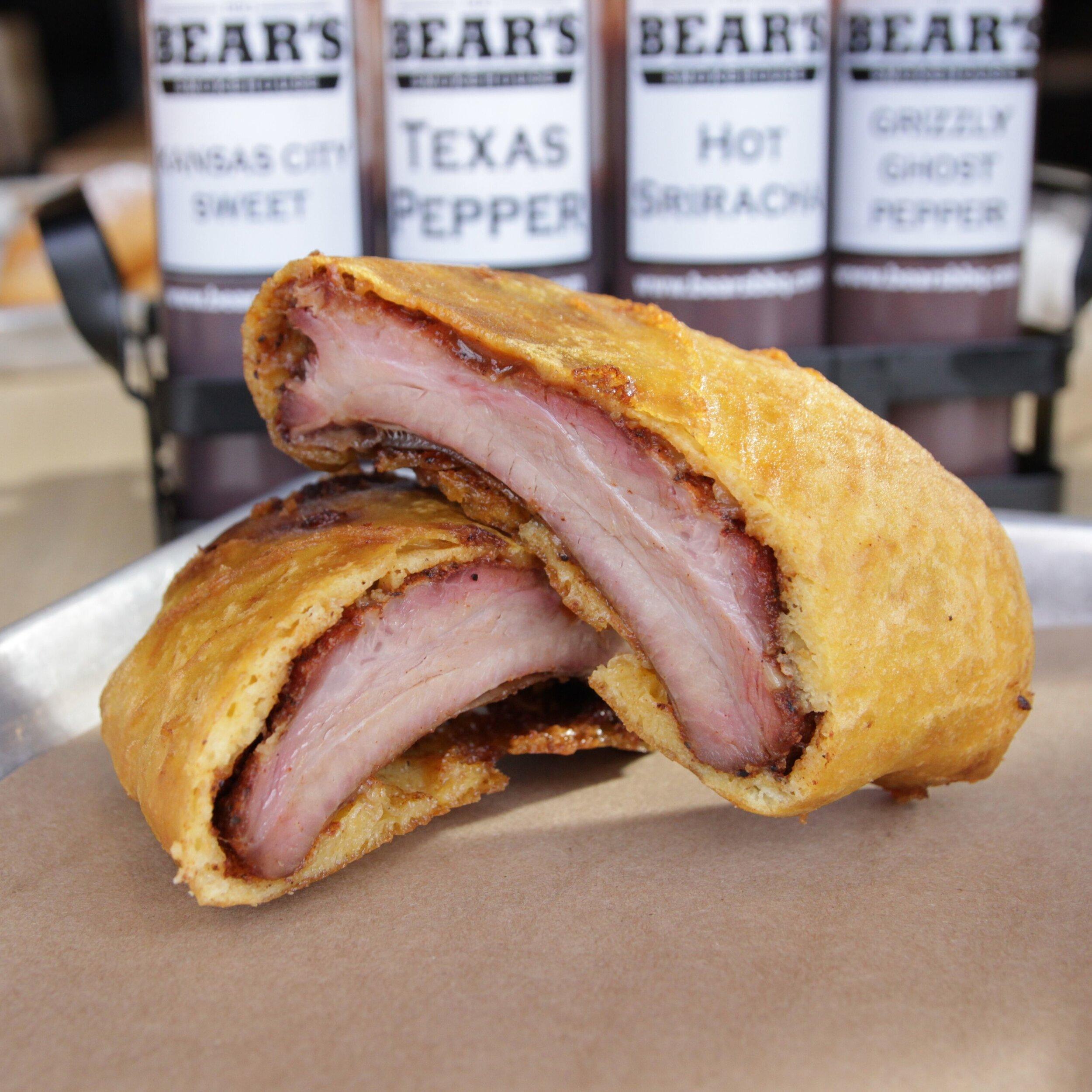 Crispy Ribs  - $7  Quarter rack of ribs, bettered and deep fried