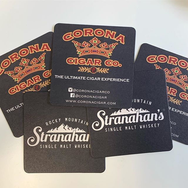 🍹 🍸 🍷 🥃 🍺 🥂  #Carona #Cigar #Stranahans #Whiskey #CustomCoasters #TBT #Orlando #Florida #PromotionalProducts #Swag #Giveaways #Events #5STAR #5STARPROMO