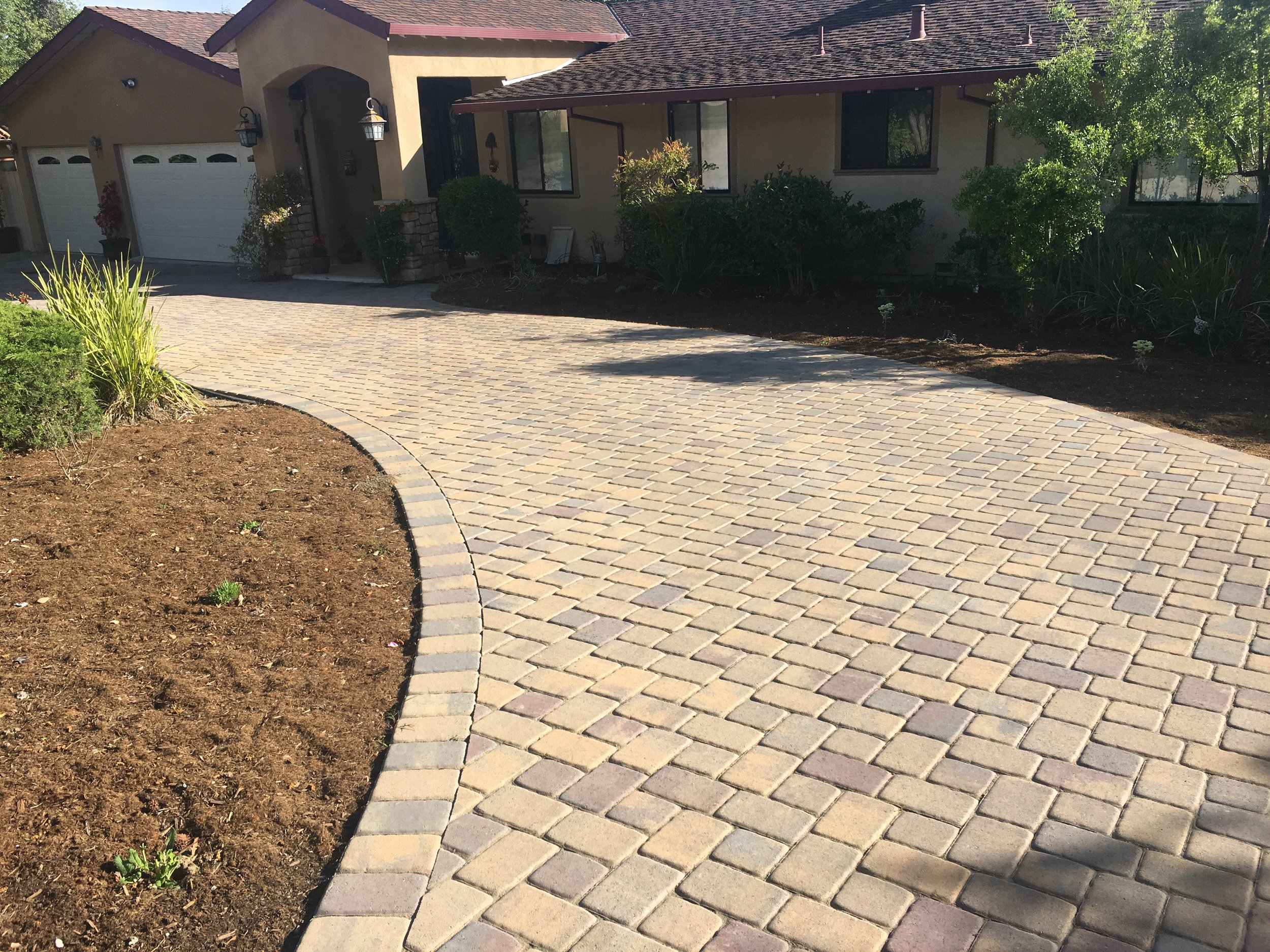 New Belgard Cambridge Cobble Driveway for our wonderful client.