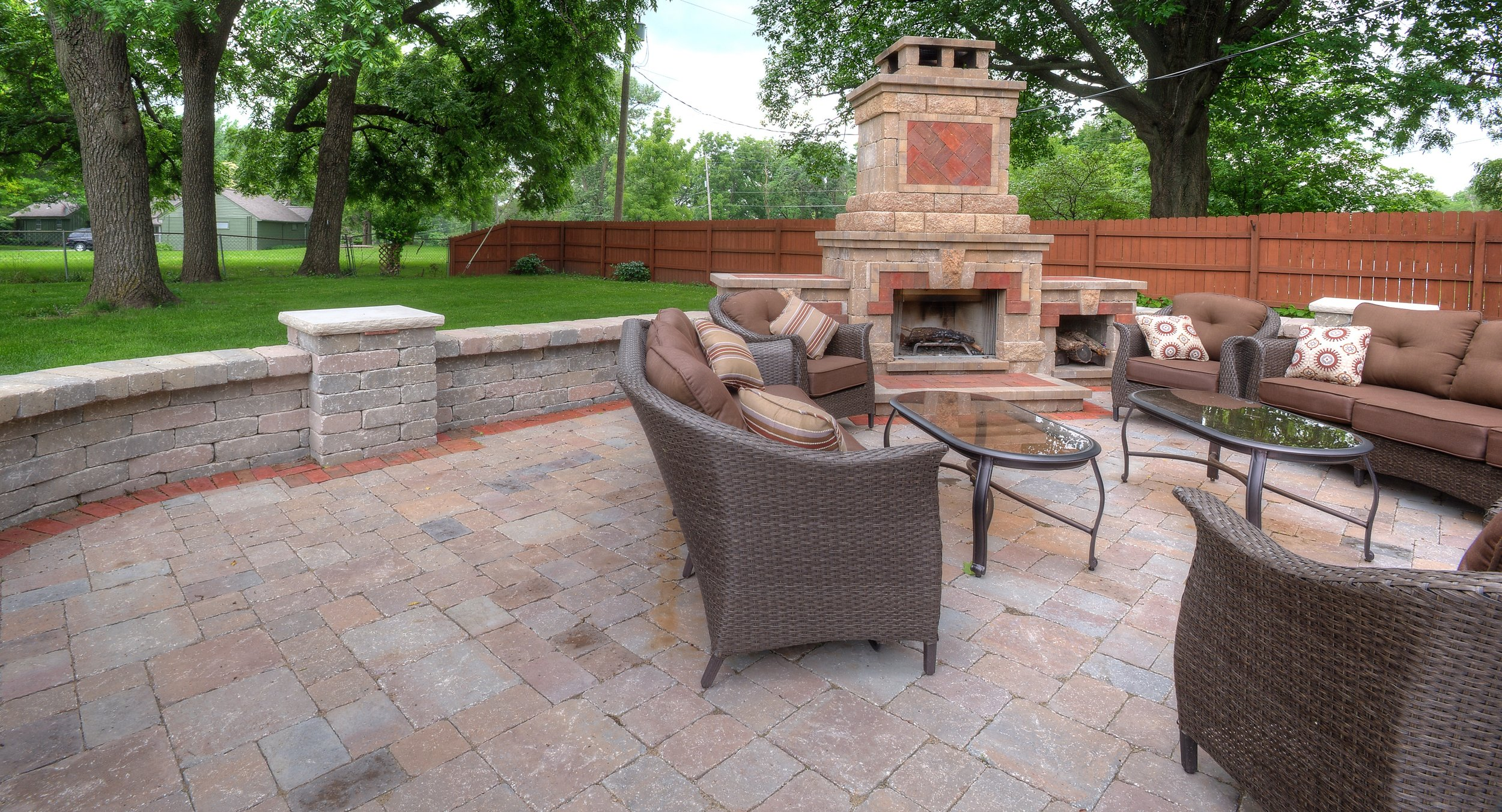 Need to remodel your backyard? We can help you build a beautiful fire place for a better living space.