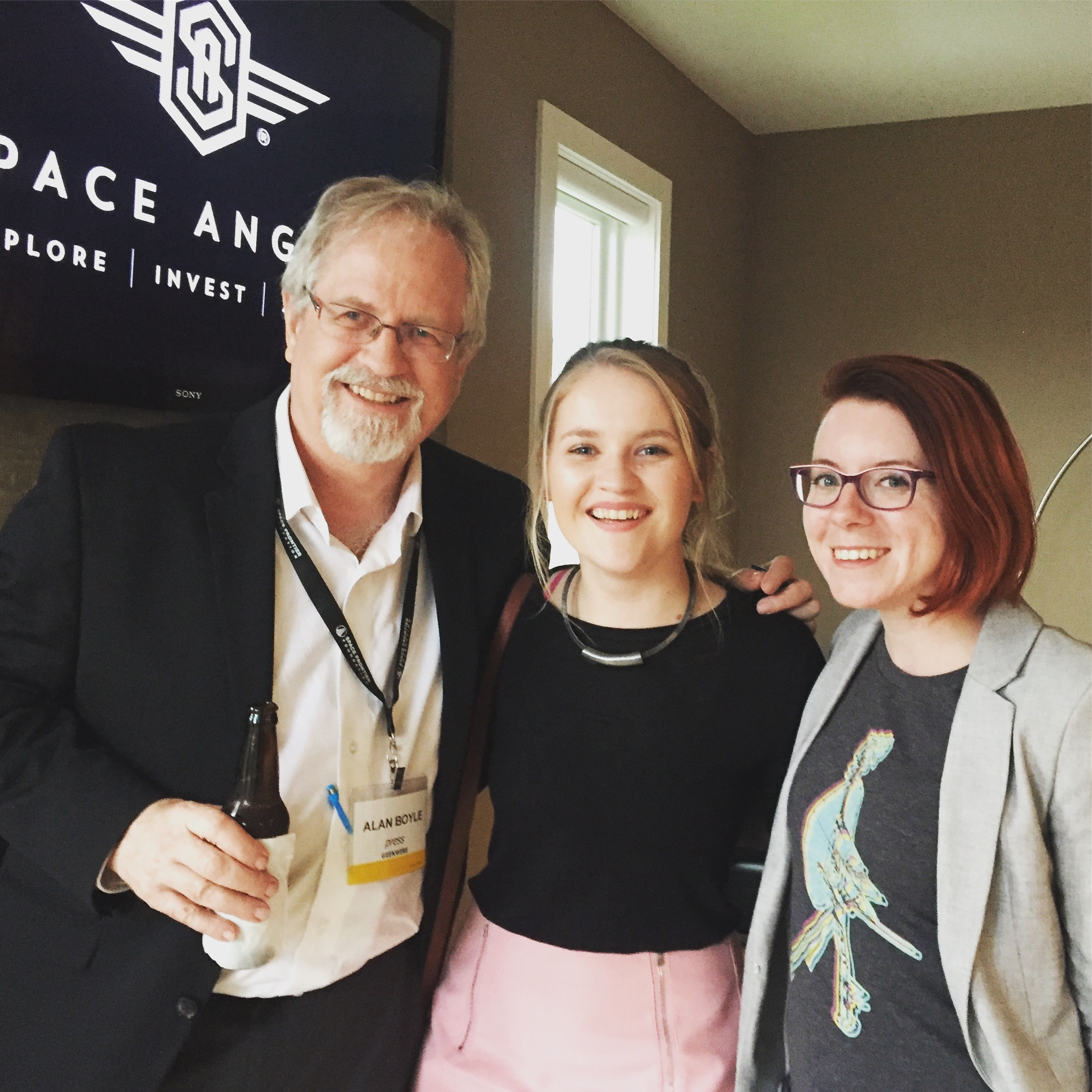 Me with Alan Boyle (@b0yle) and Dr, Tanya Harrison (@tanyaofmars) at an after party hosted by  Space Angels  for the NewSpace Conference held in Seattle