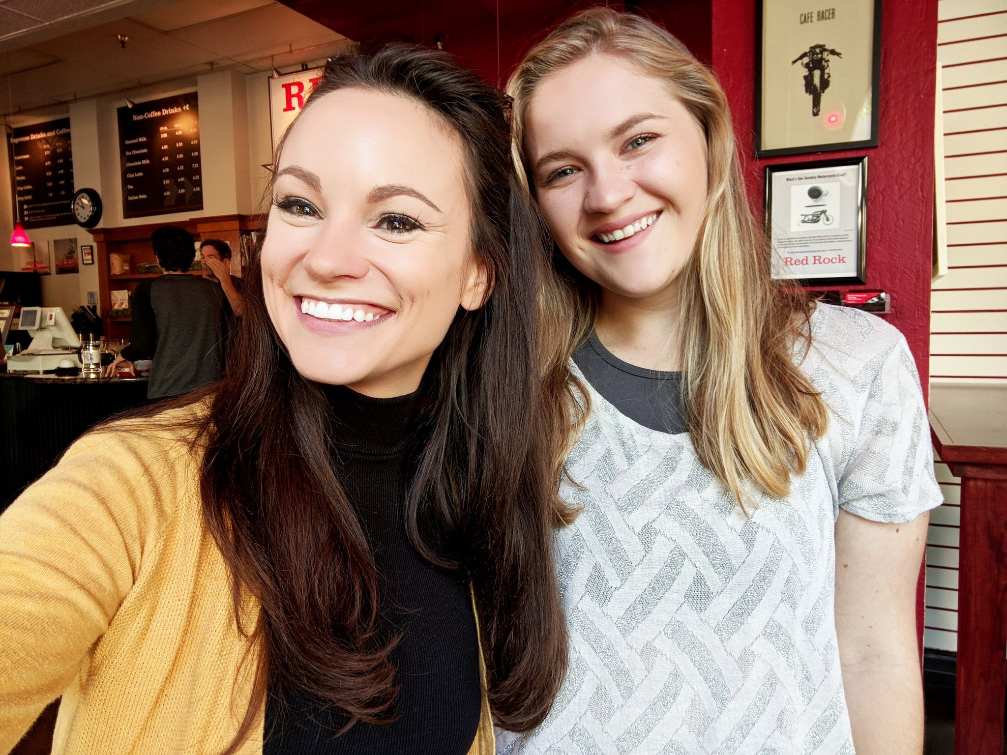 Coffee date with my mentor,  Emily Calandrelli (@thespacegal)