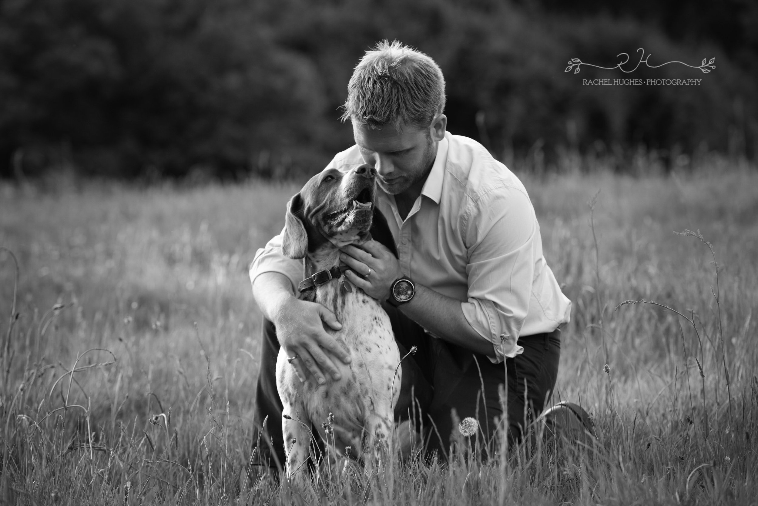 Jersey photographer - man and his dog