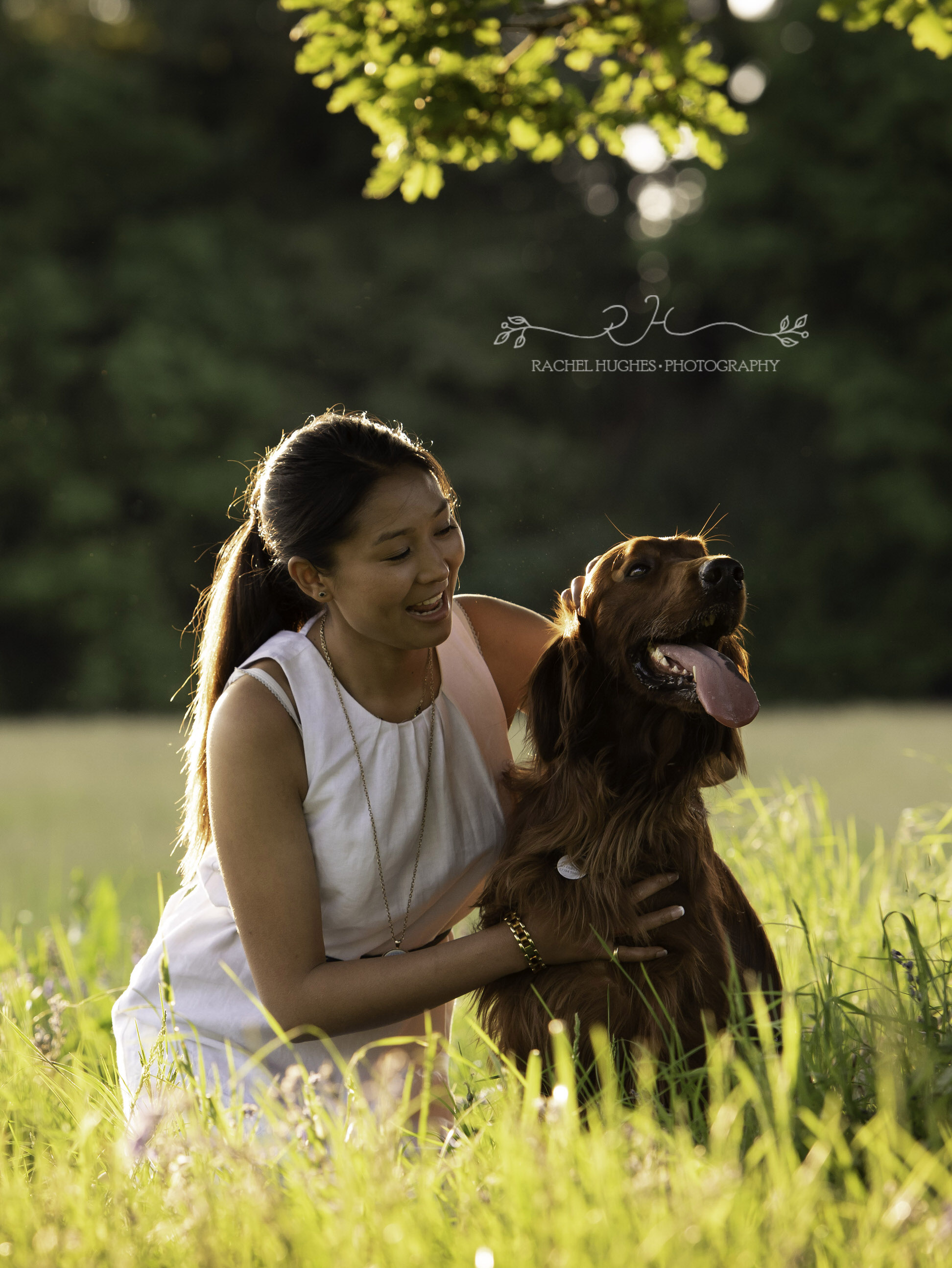 Jersey photographer - woman and her dog