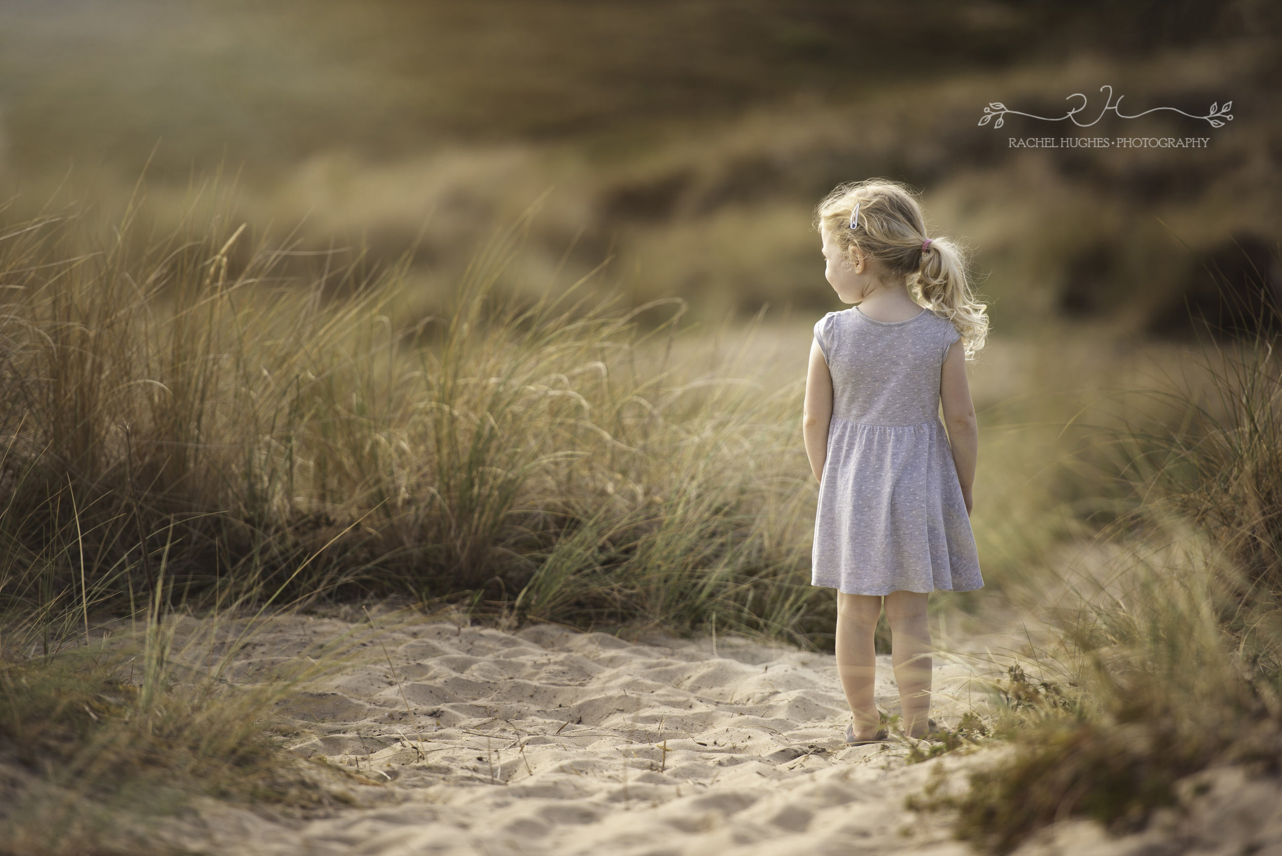 Jersey photographer - girl at St Ouens sand dunes