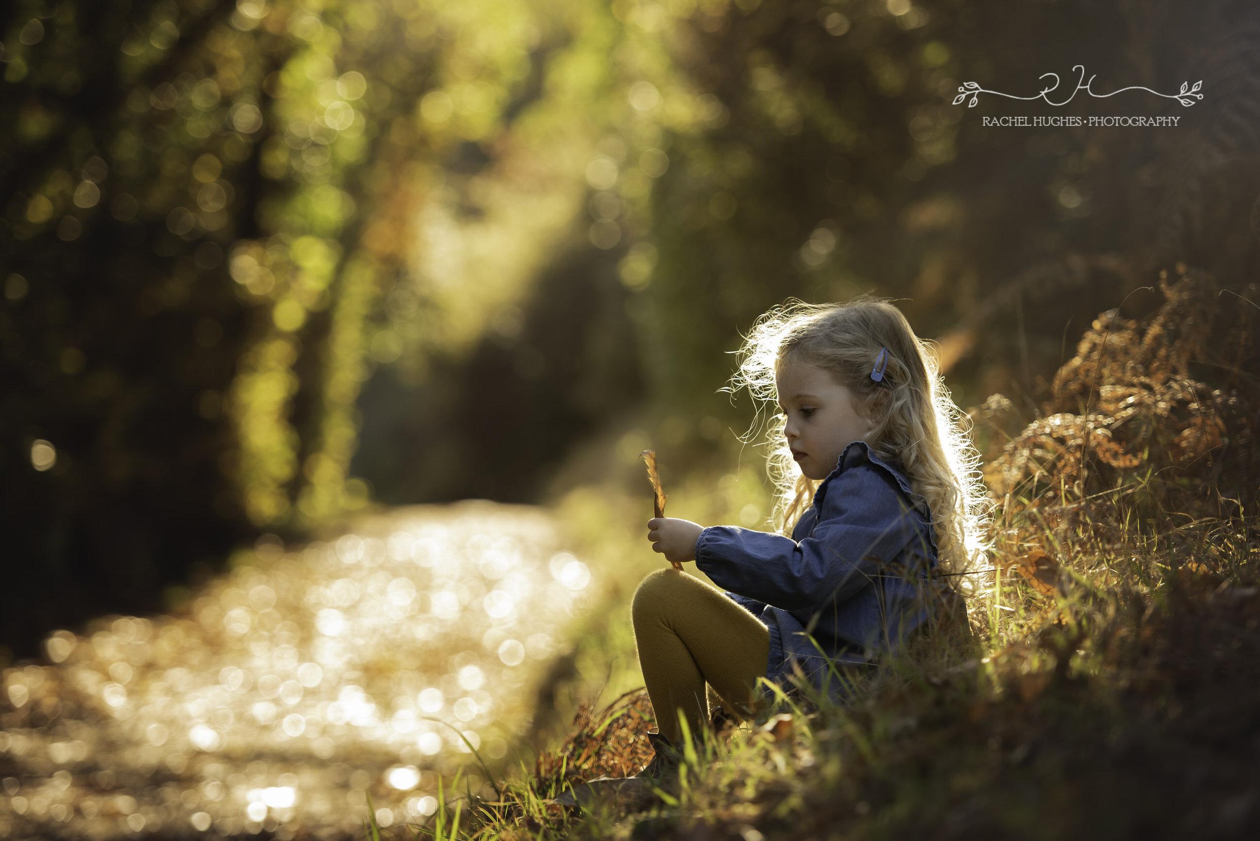 Jersey photographer - girl in autumn woodland