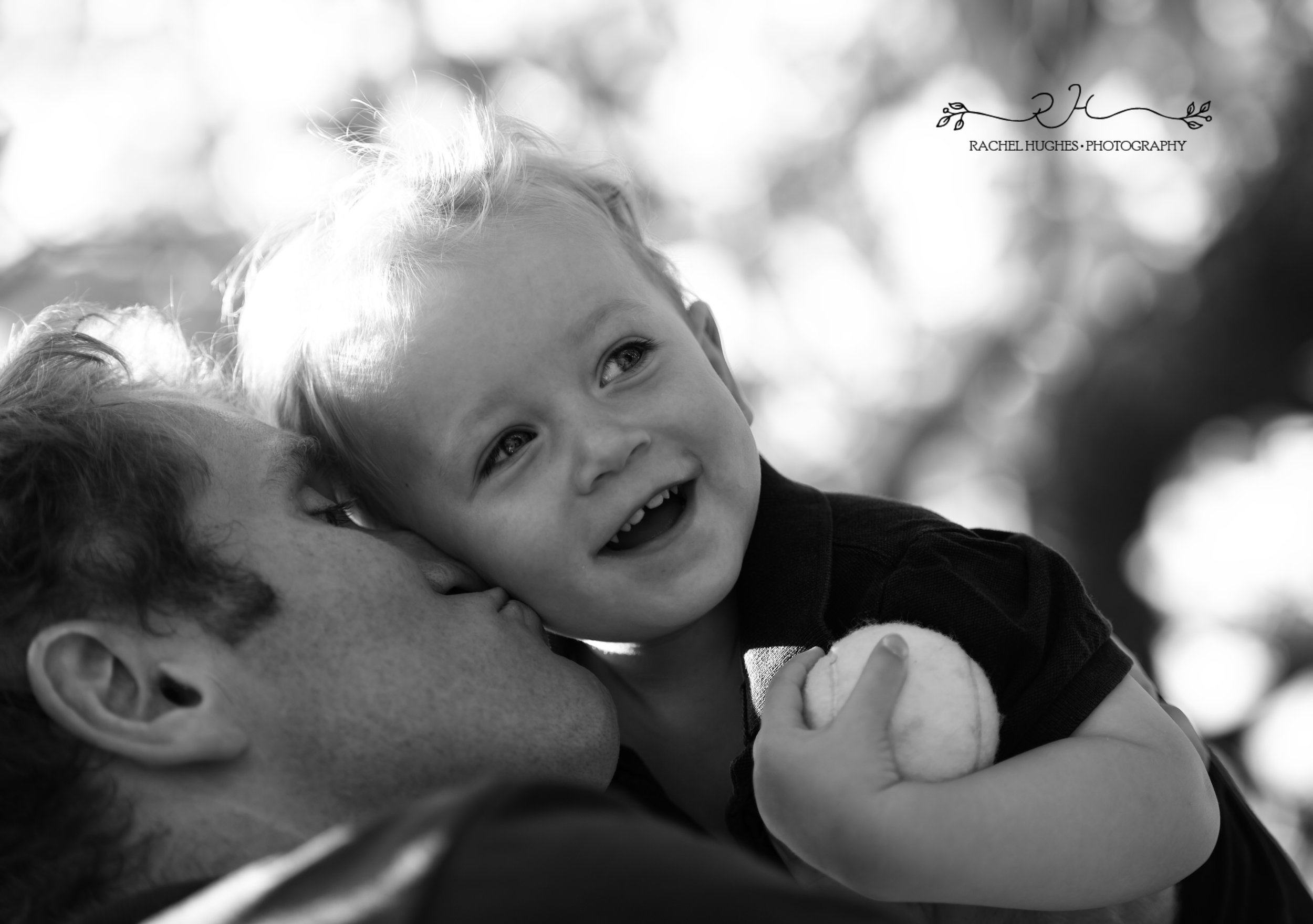 Jersey photographer - dad kissing boy