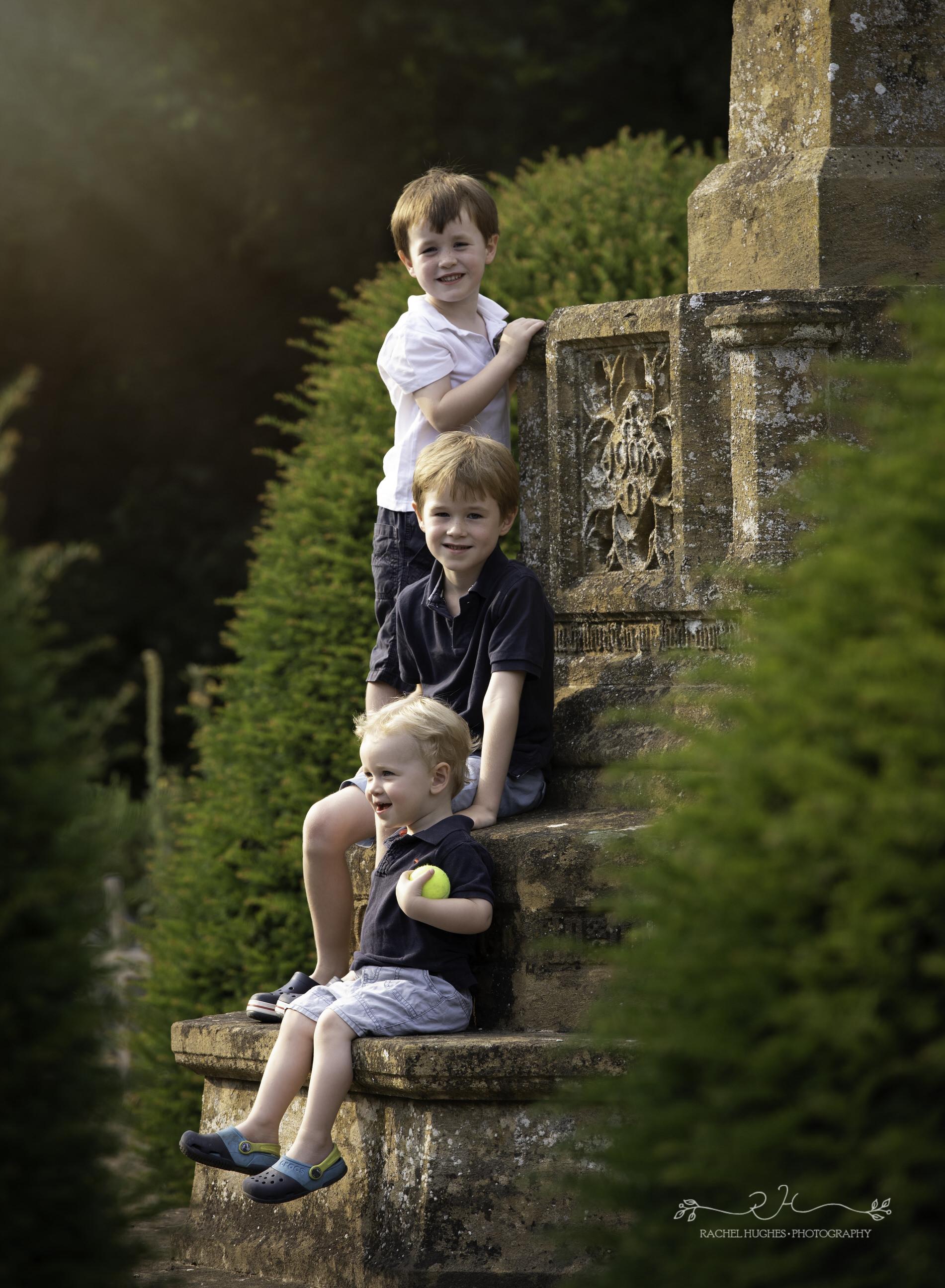 Jersey photographer - boys in churchyard