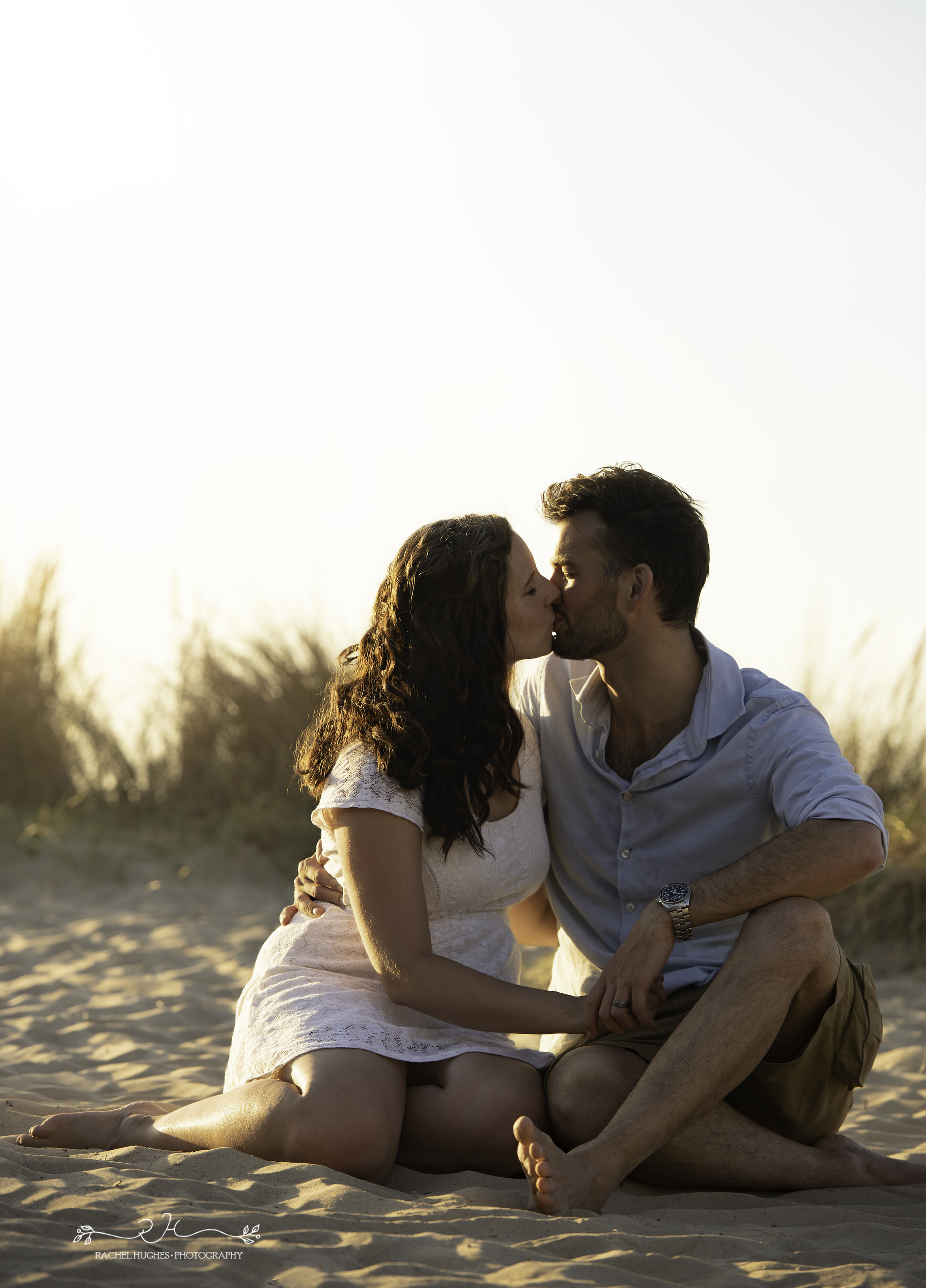 Jersey photographer - couple at St Ouen's sunset