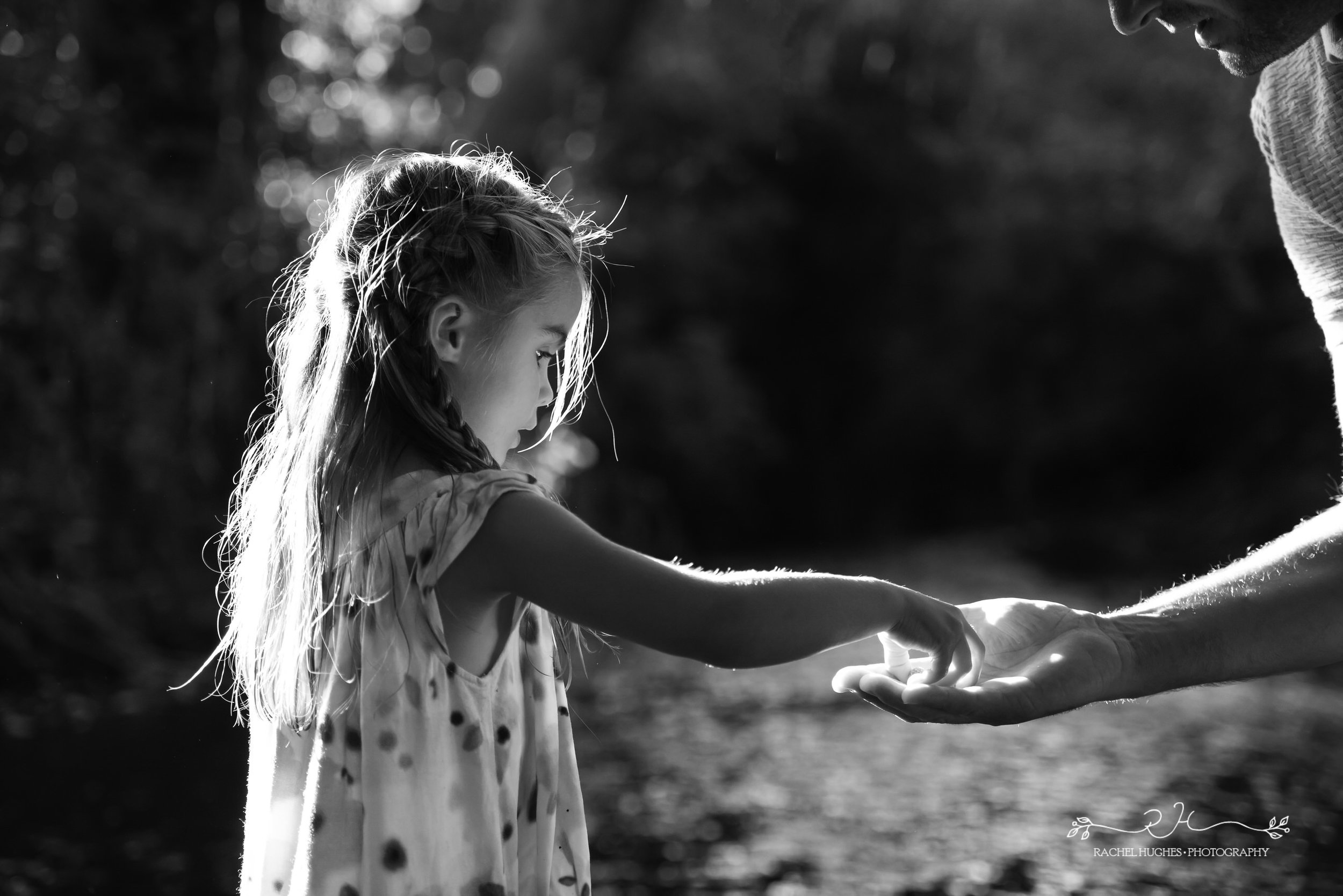 Jersey photographer - girl holding daddy's hand
