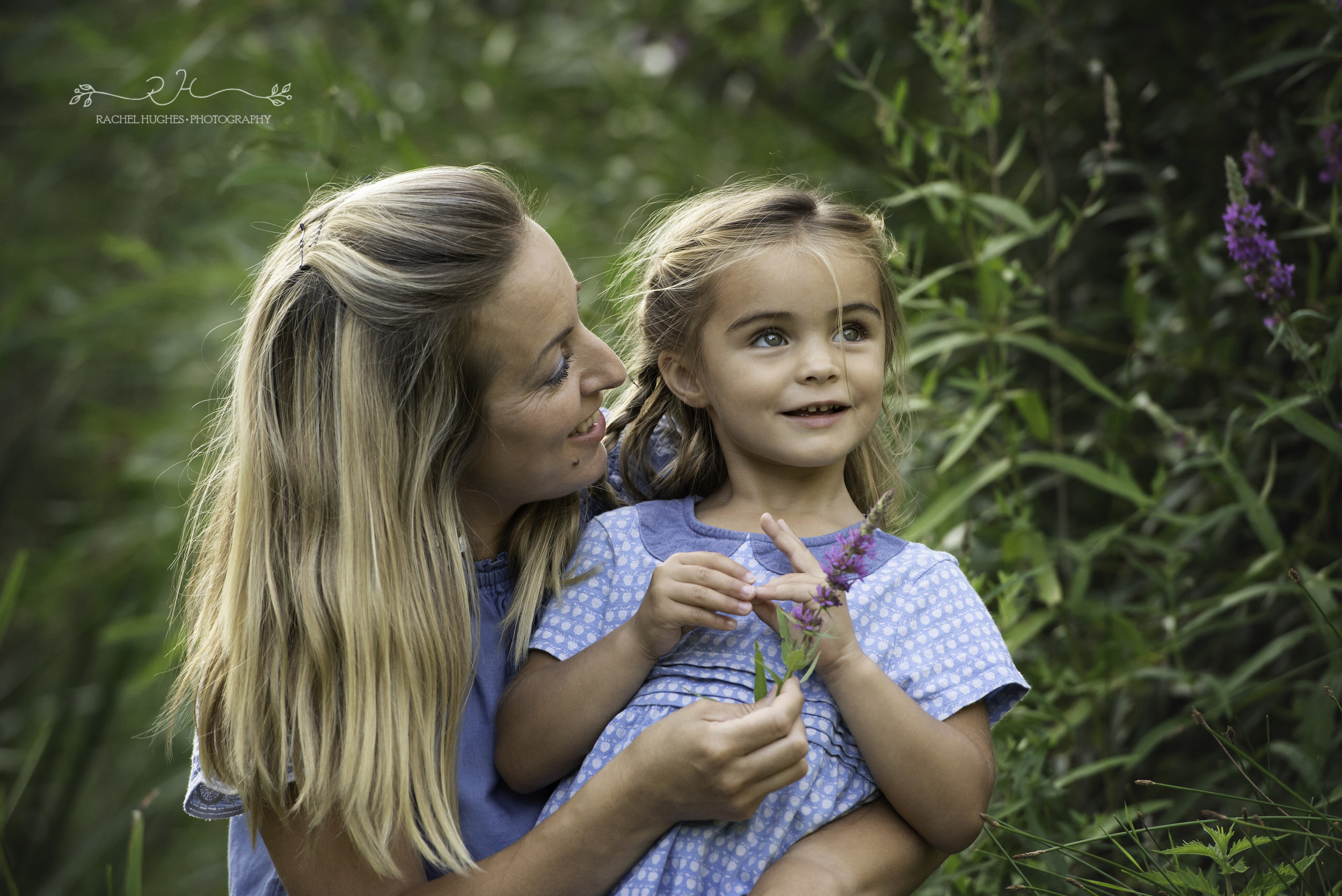 Jersey photographer - mother and daughter in flowers