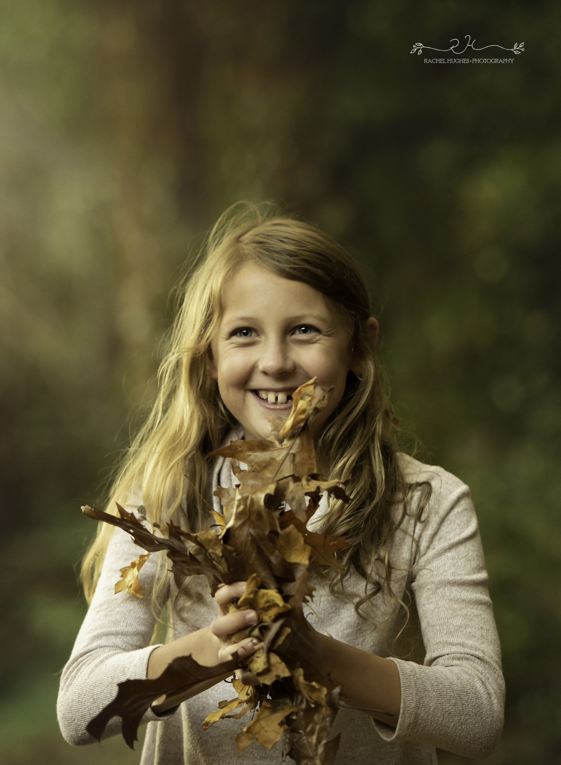 Jersey photographer - girl about to throw leaves