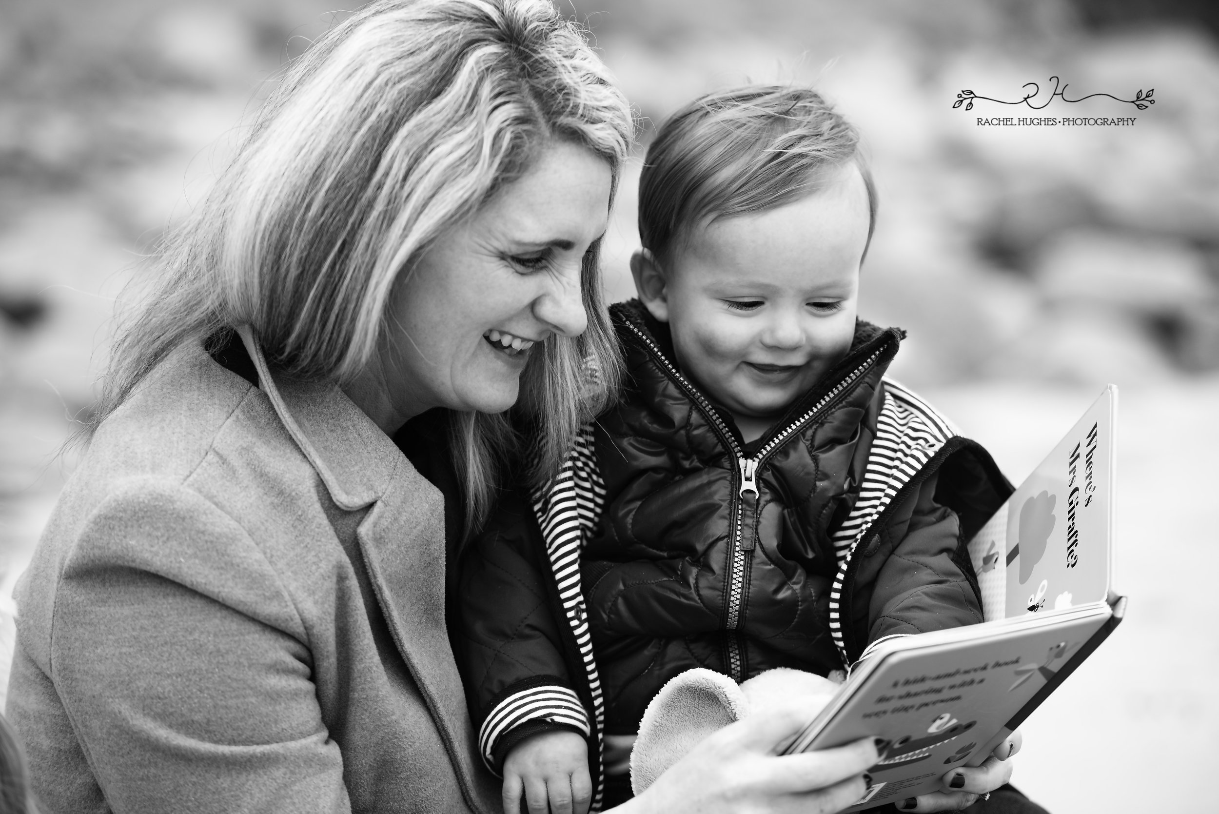 Jersey photographer: mum reading book to boy