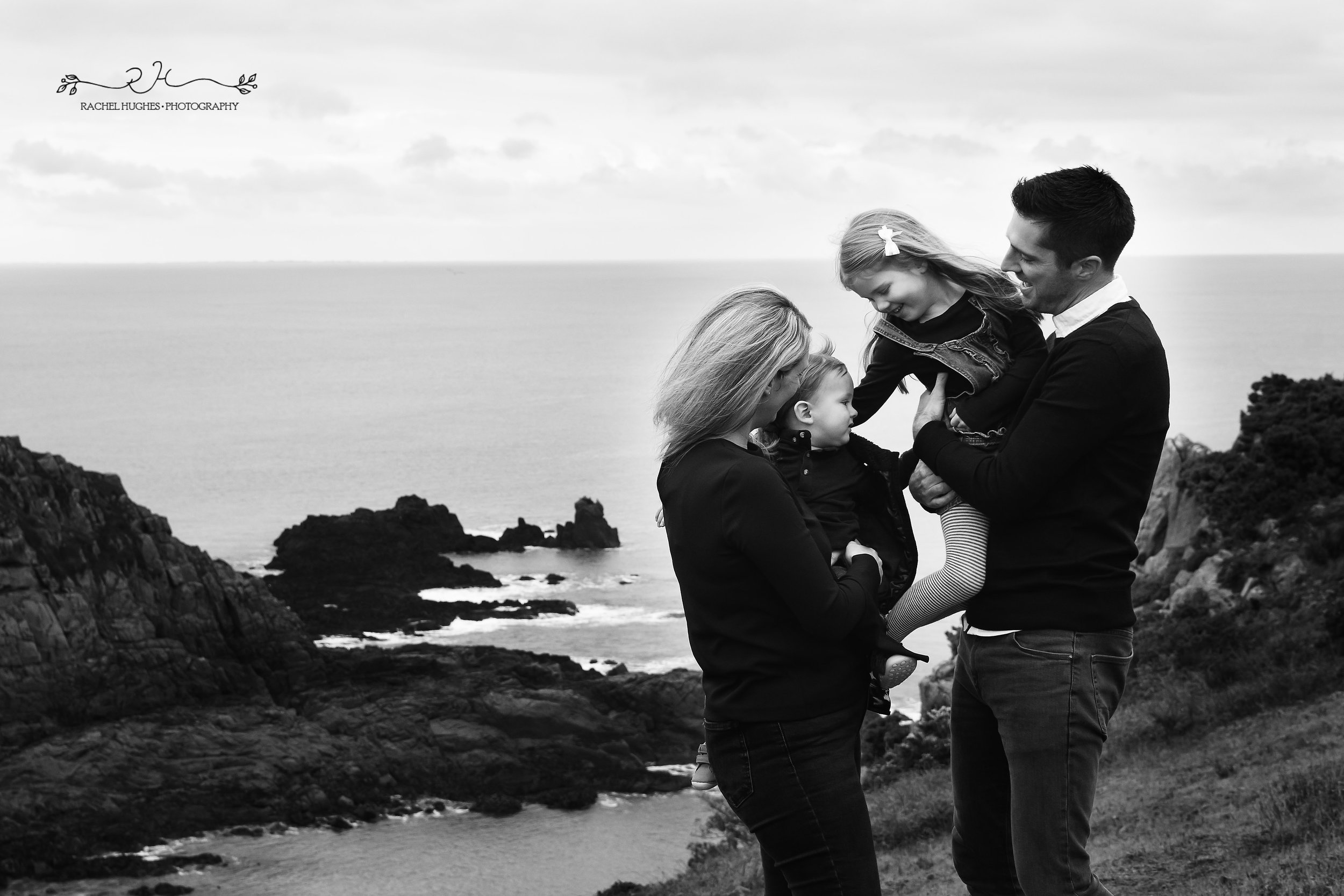 Jersey photographer: family at Portelet Common