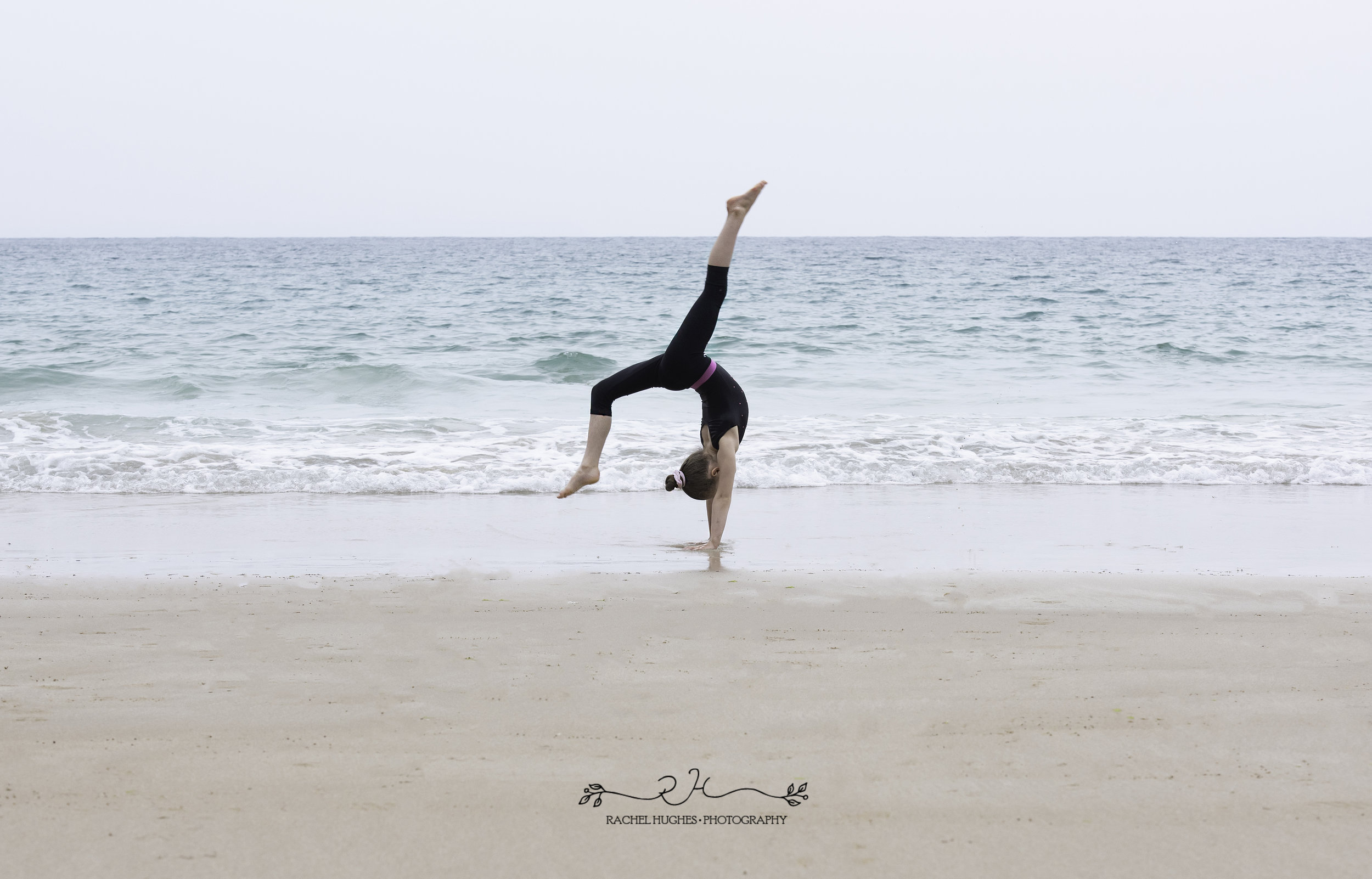 Jersey photographer  - gymnast photoshoot in the sea