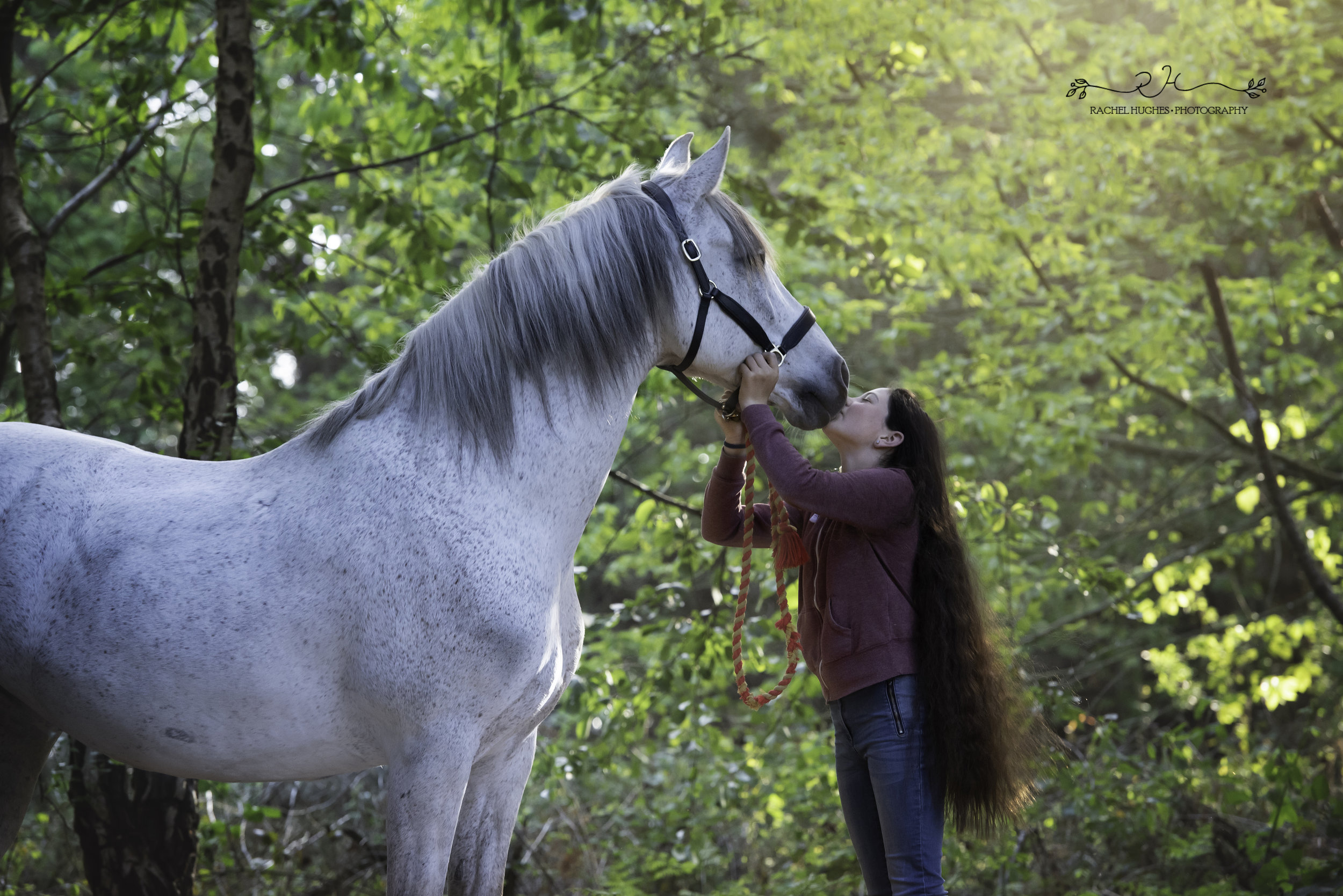 Jersey photographer - girl kissing her rescue horse