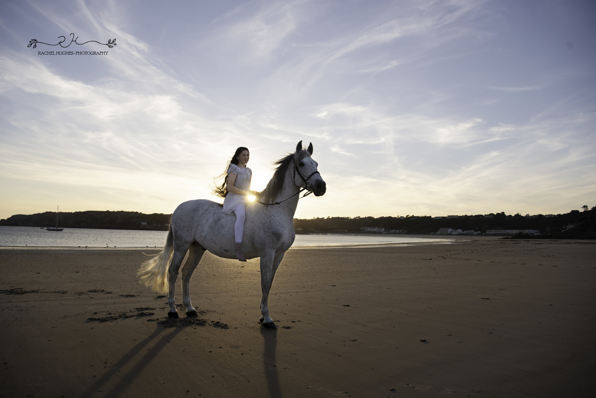 Jersey photographer - equine photoshoot at Ouaisne Bay