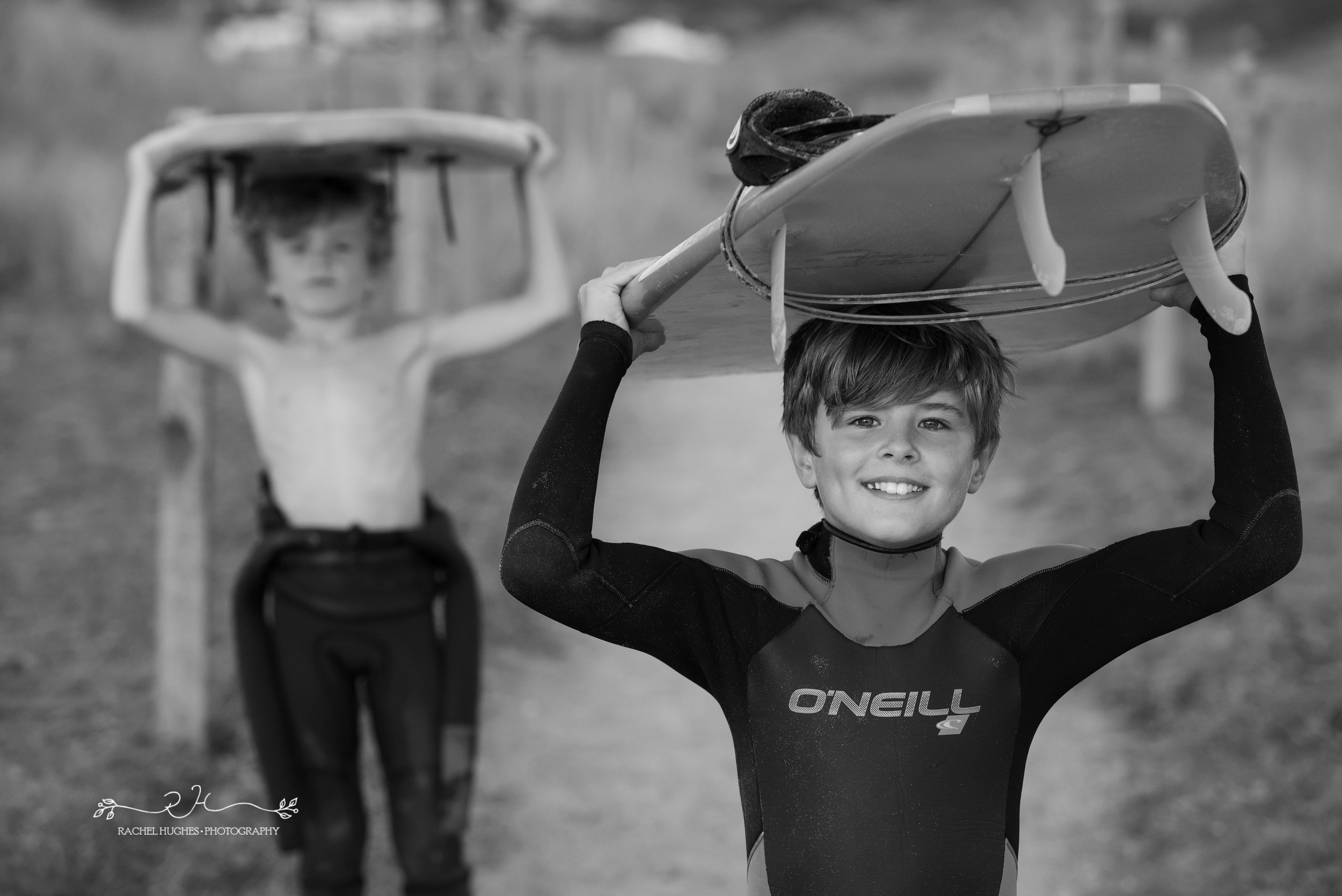 Jersey photographer - surfing brothers at St Ouens