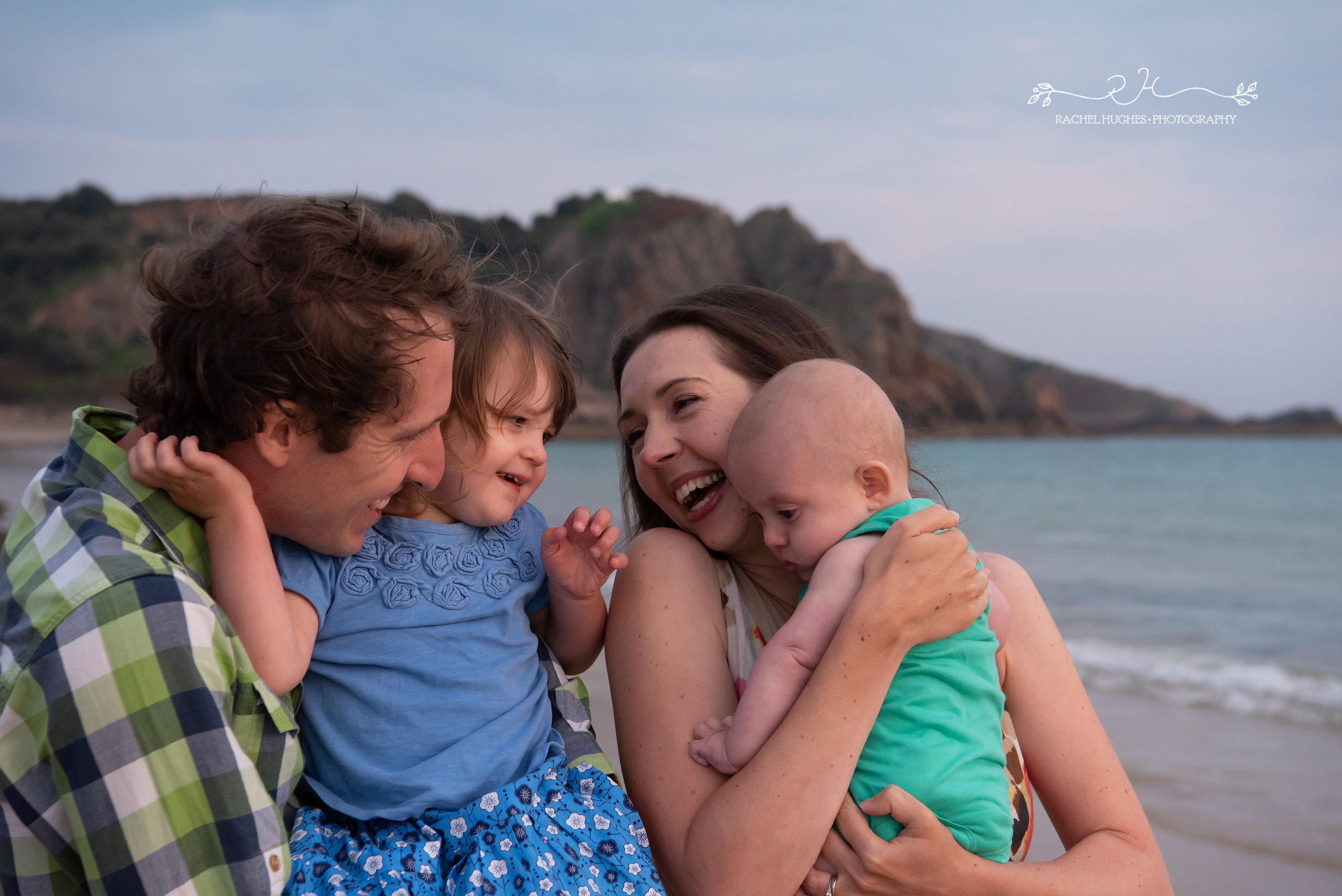 Jersey family photographer - family at Ouaisne Bay