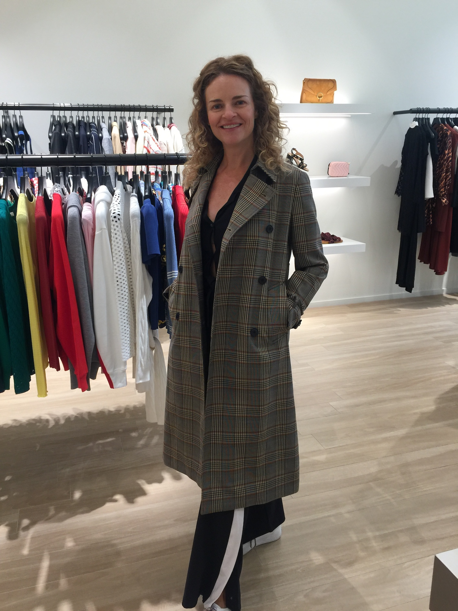 This chic plaid coat is the fall piece you'll reach for again and again. Sandro, $ 800.