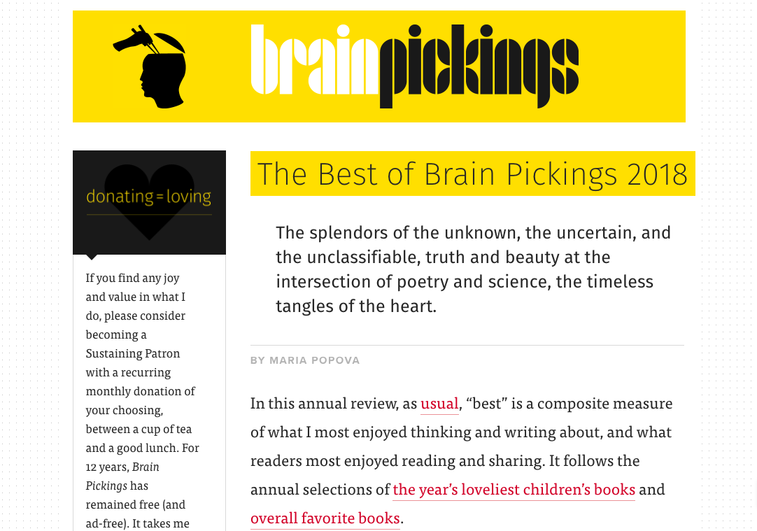 Brainpickings.org  by Maria Popova