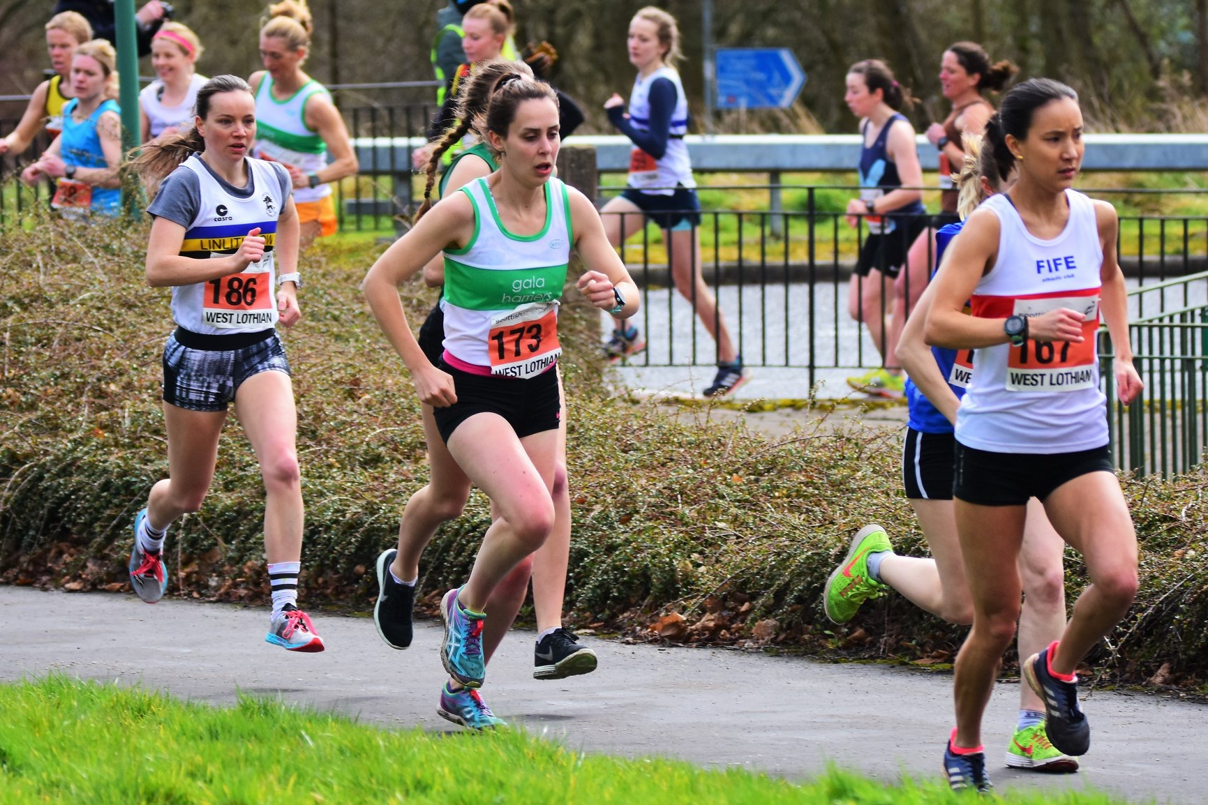 Siobhan Coleman at Scottish Road Relay Championships