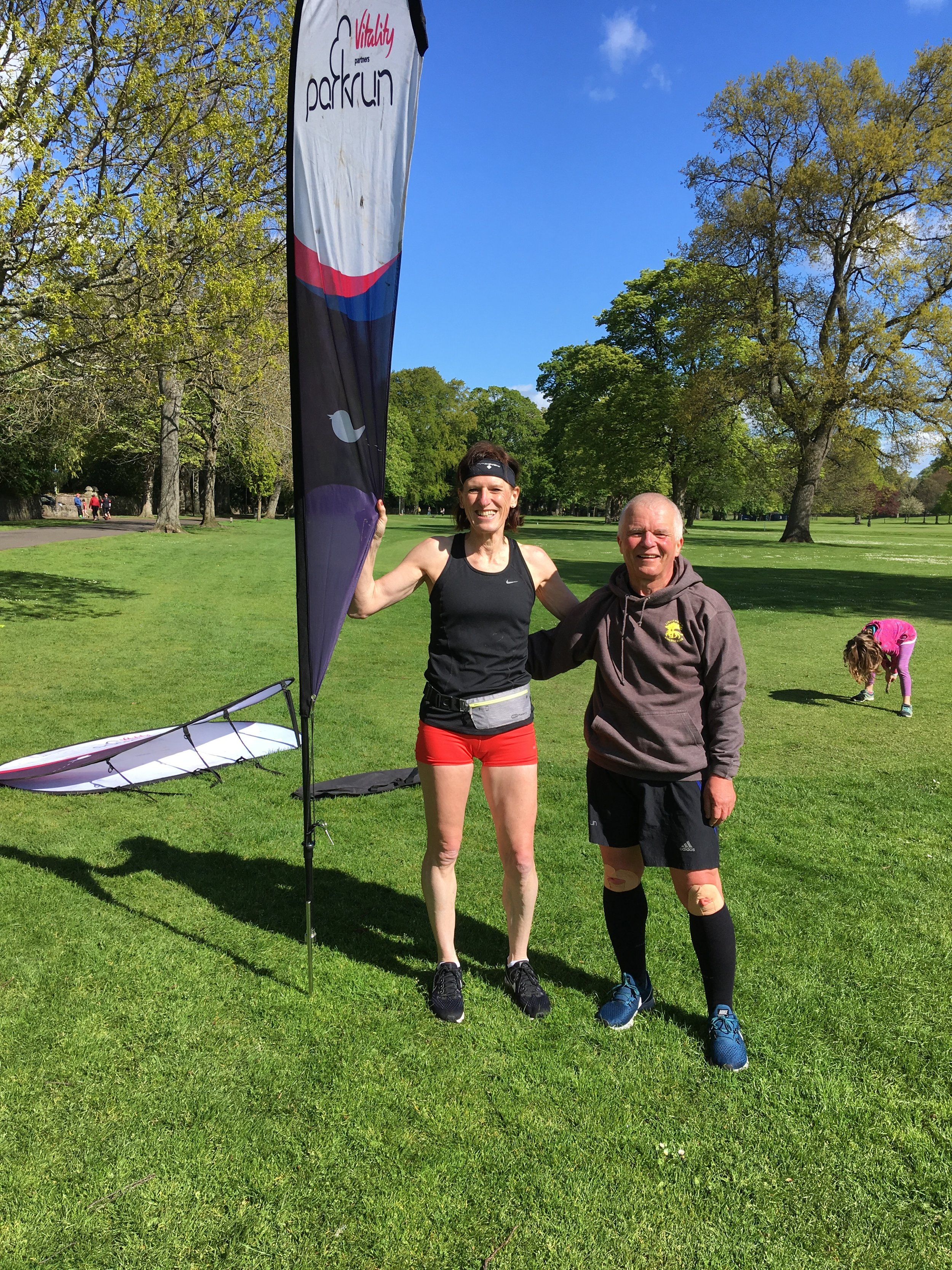 Frances and Alex at Perth parkrun
