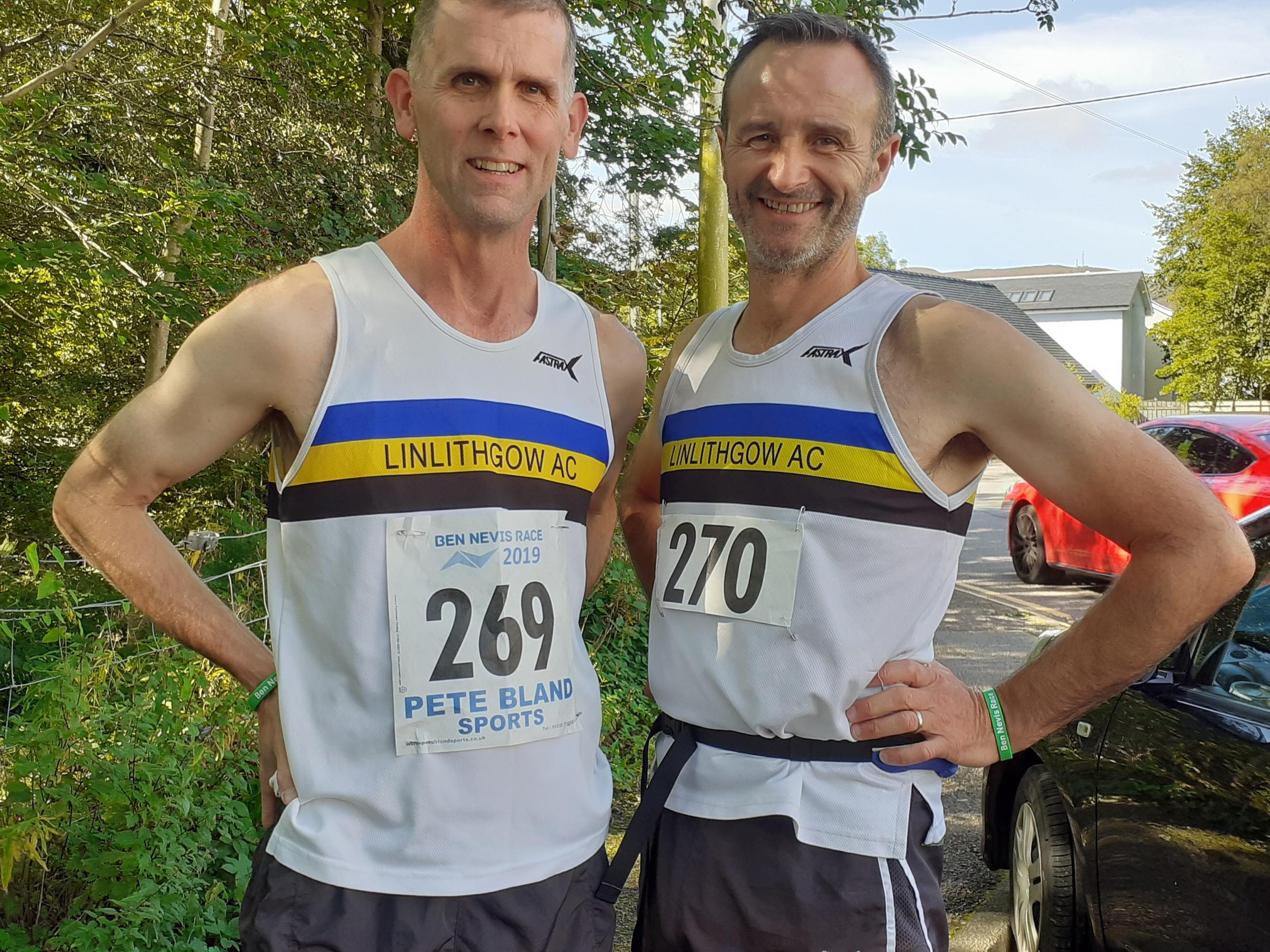 Paul and David at Ben Nevis race