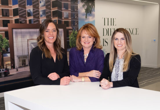 From left to right: Stream Data Centers' Katie O'Hara, Mary Morgan and Danielle Rountree