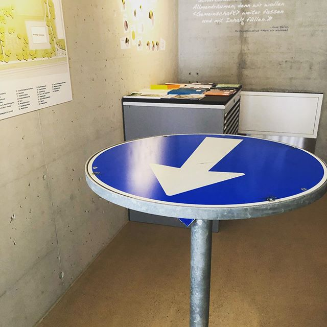 How cool is this bar table made of a a recycled road sign?