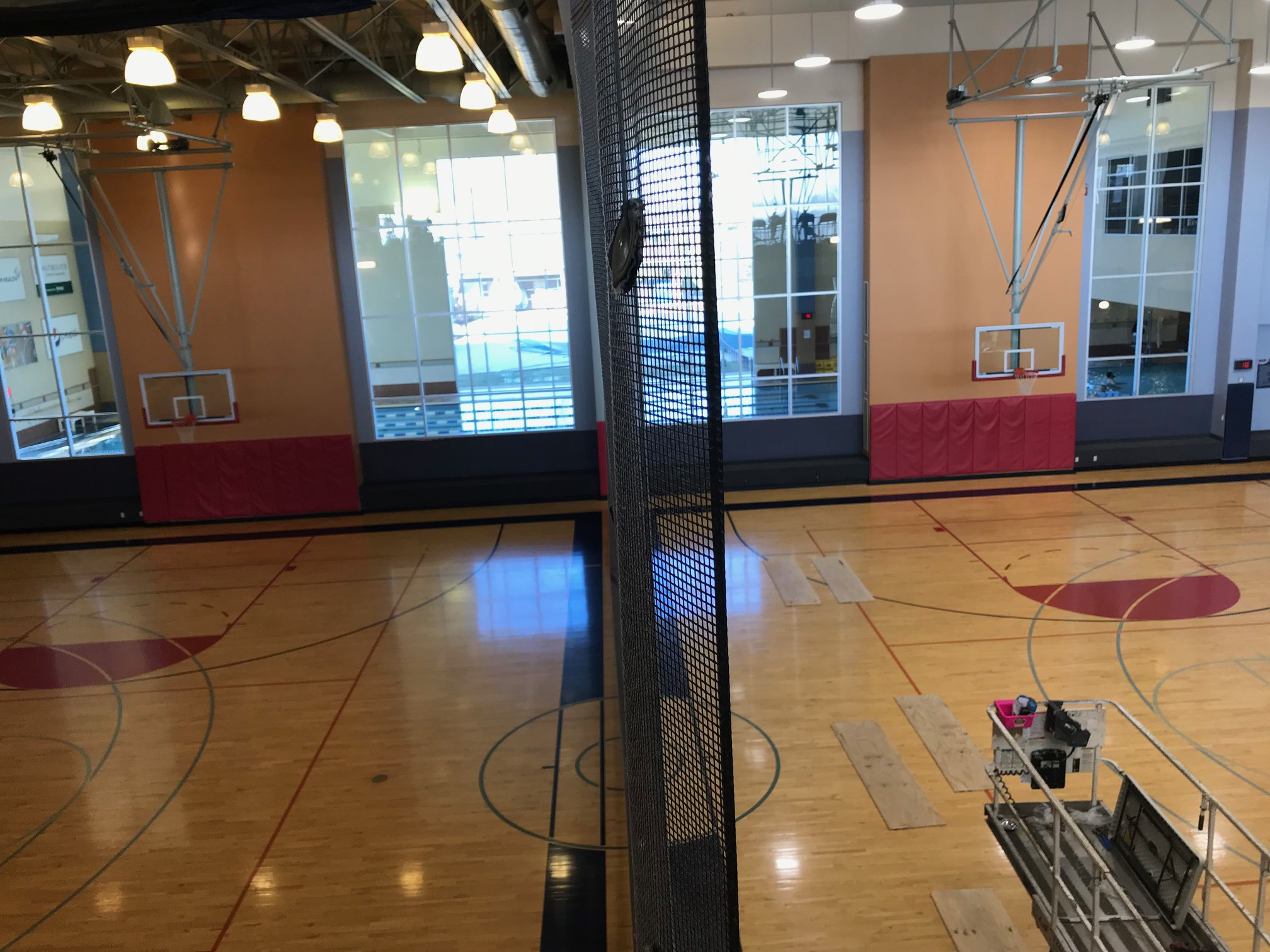 Before/after SportStrong Lighting LED Installation