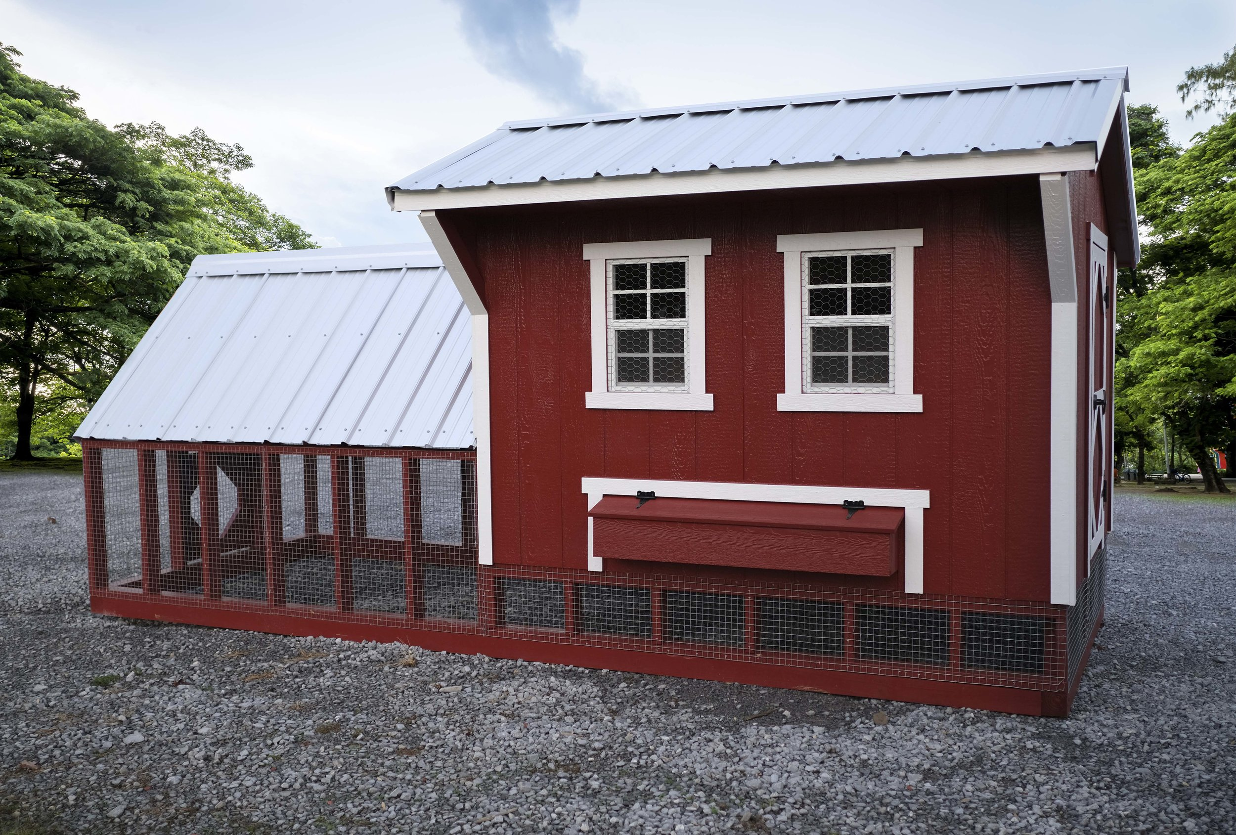 6' x 8' Coop with 6' x 8' Run
