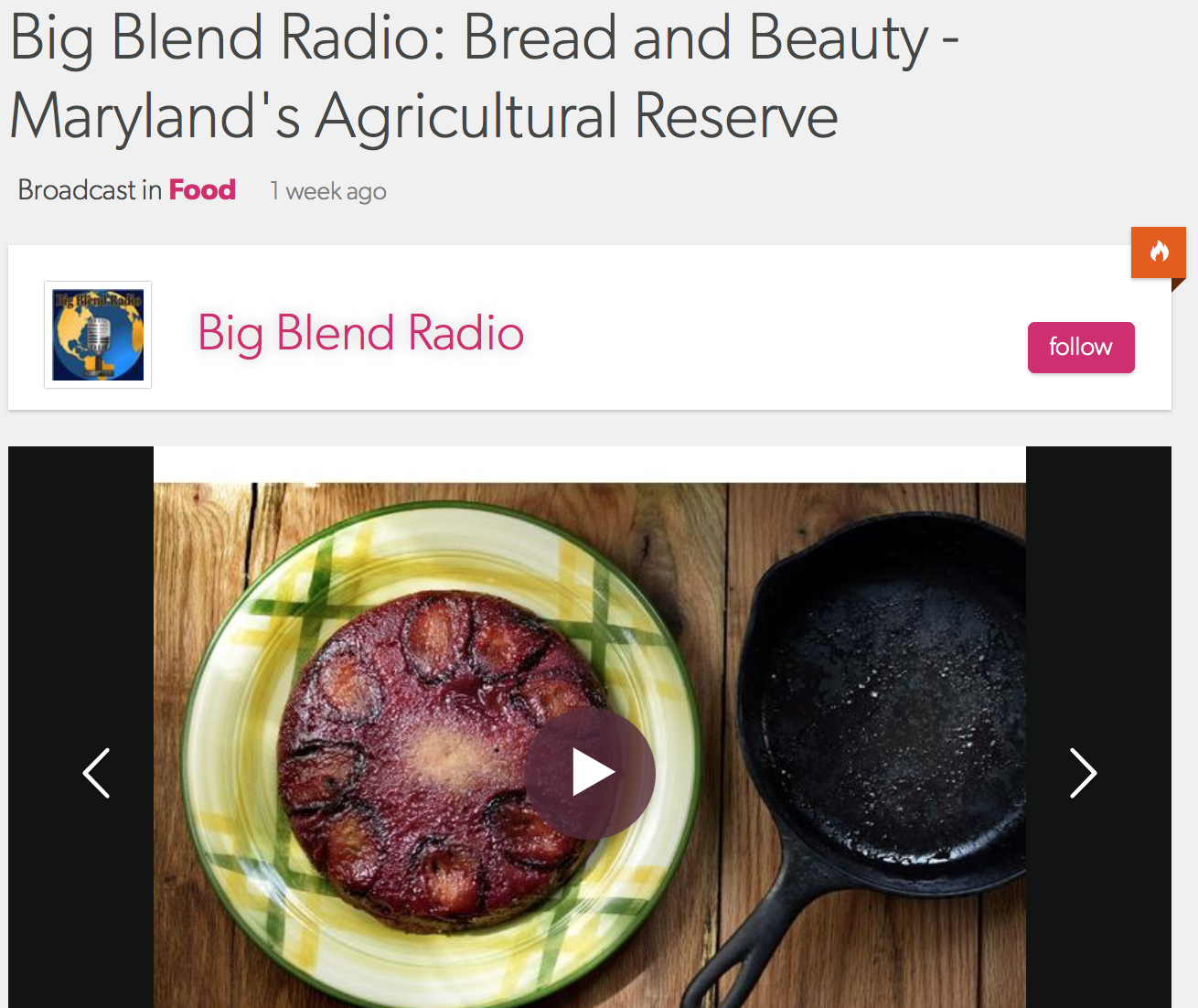 Bread & Beauty on the Big Blend - exploring America's great open spaces, includingMontgomery County's Agricultural Reserve