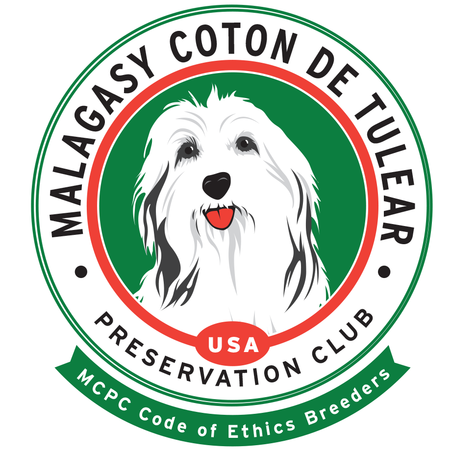 Member of the Malagasy Coton de Tulear Preservation Club       -